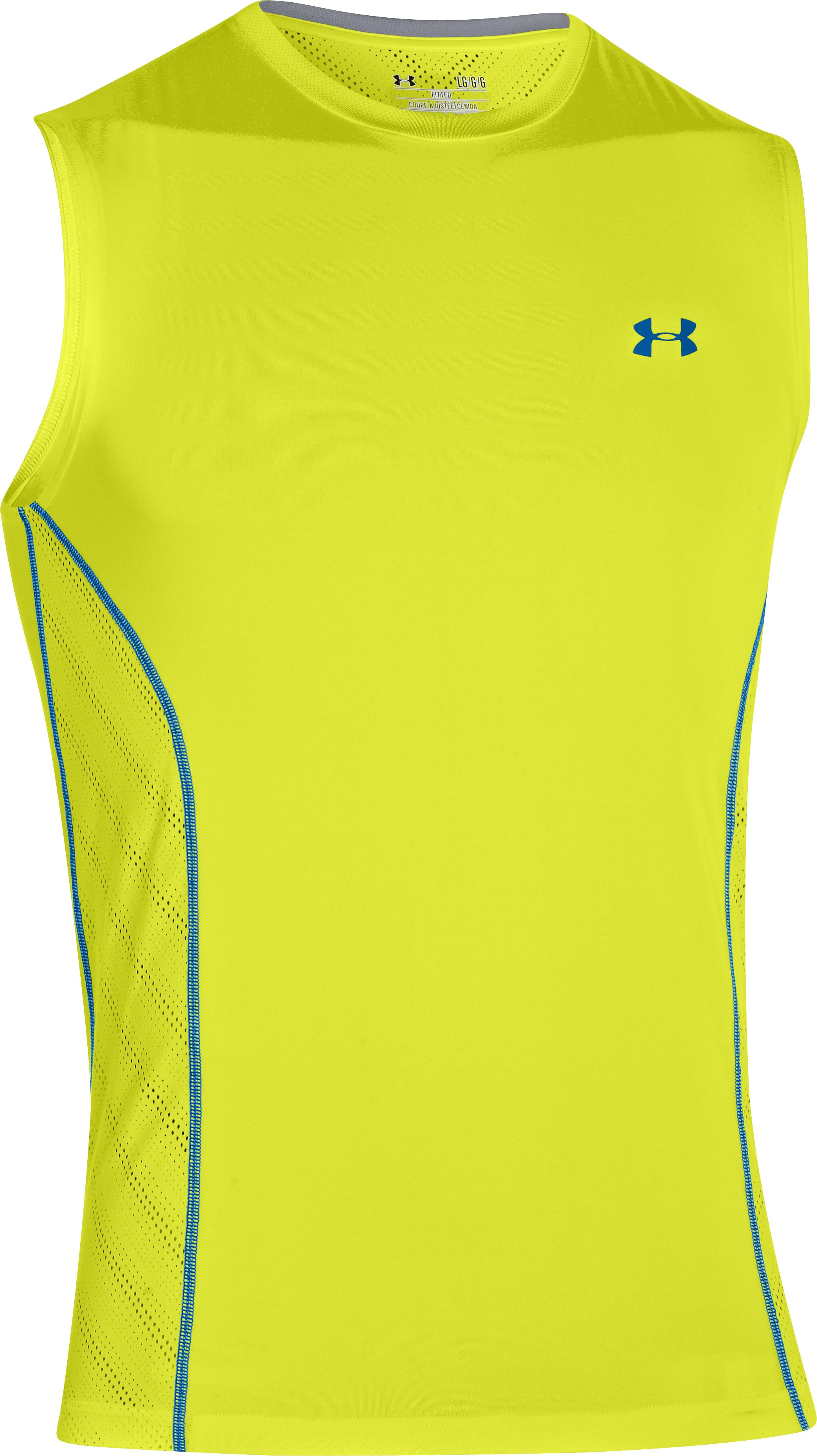 Men's HeatGear® Sonic ArmourVent™ Sleeveless, Flash Light