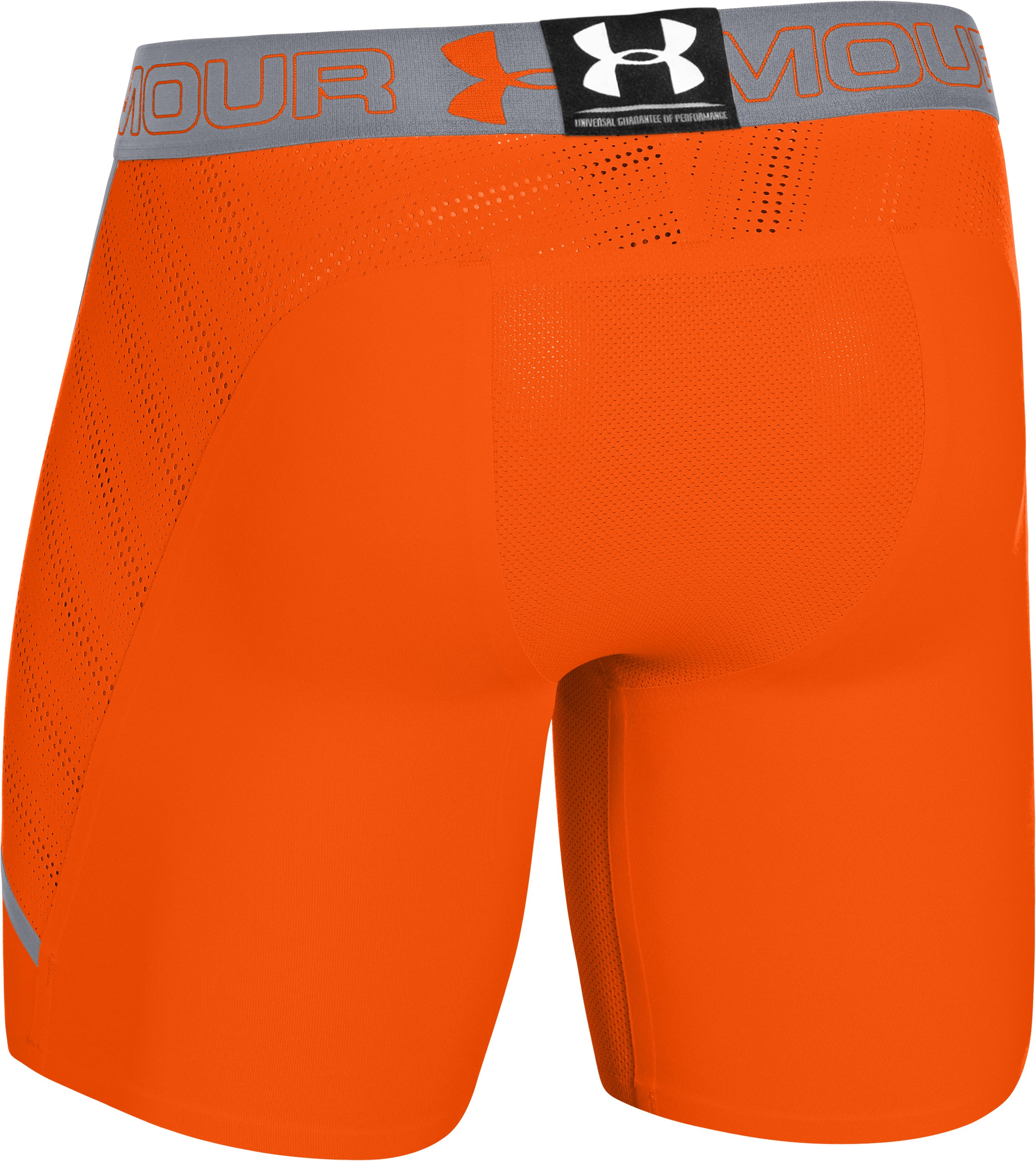 Men's HeatGear® ArmourVent™ Compression Shorts, OUTRAGEOUS ORANGE