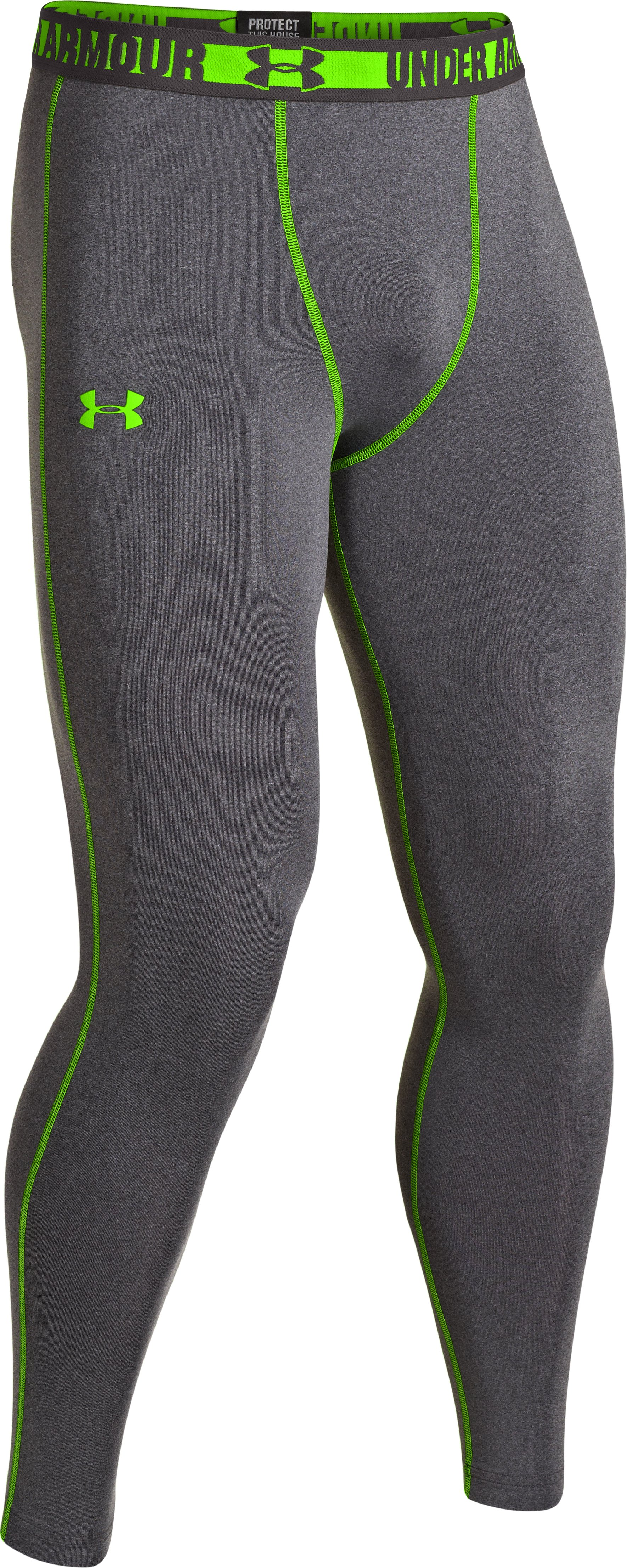Men's HeatGear® Sonic Compression Leggings, Carbon Heather