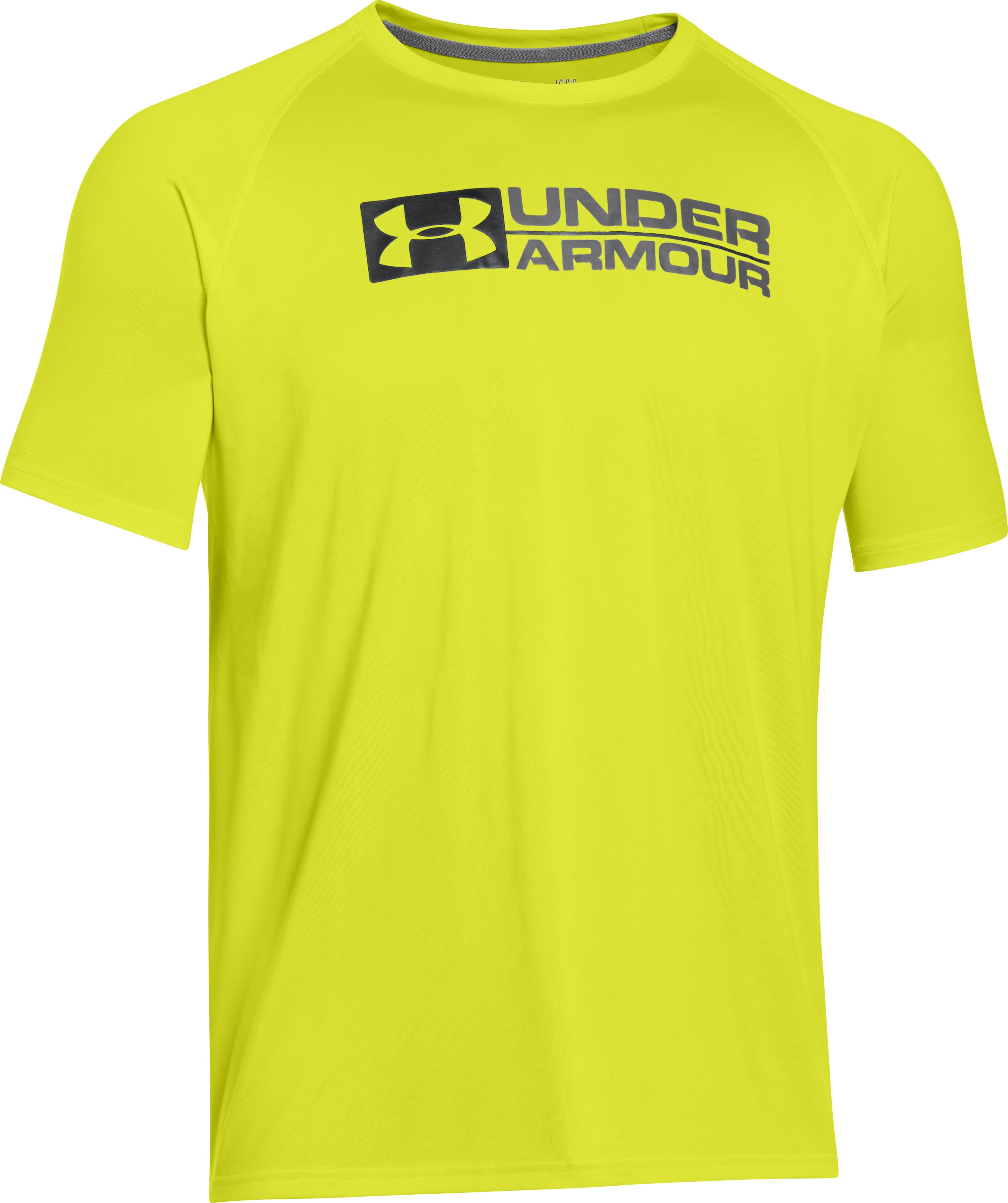 Men's UA Wordmark T-Shirt, Flash Light, undefined