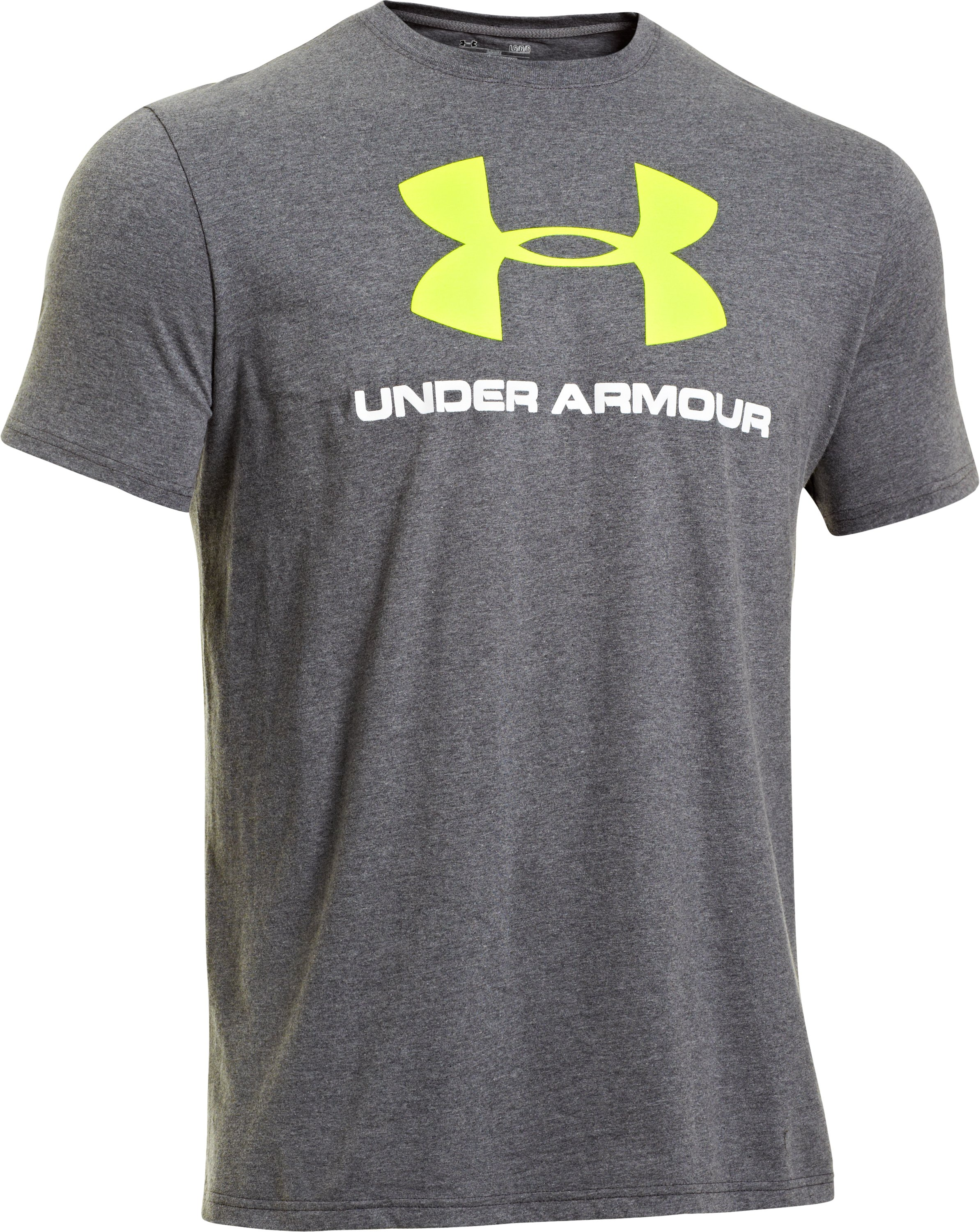 Men's UA Sportstyle Logo T-Shirt, Carbon Heather,