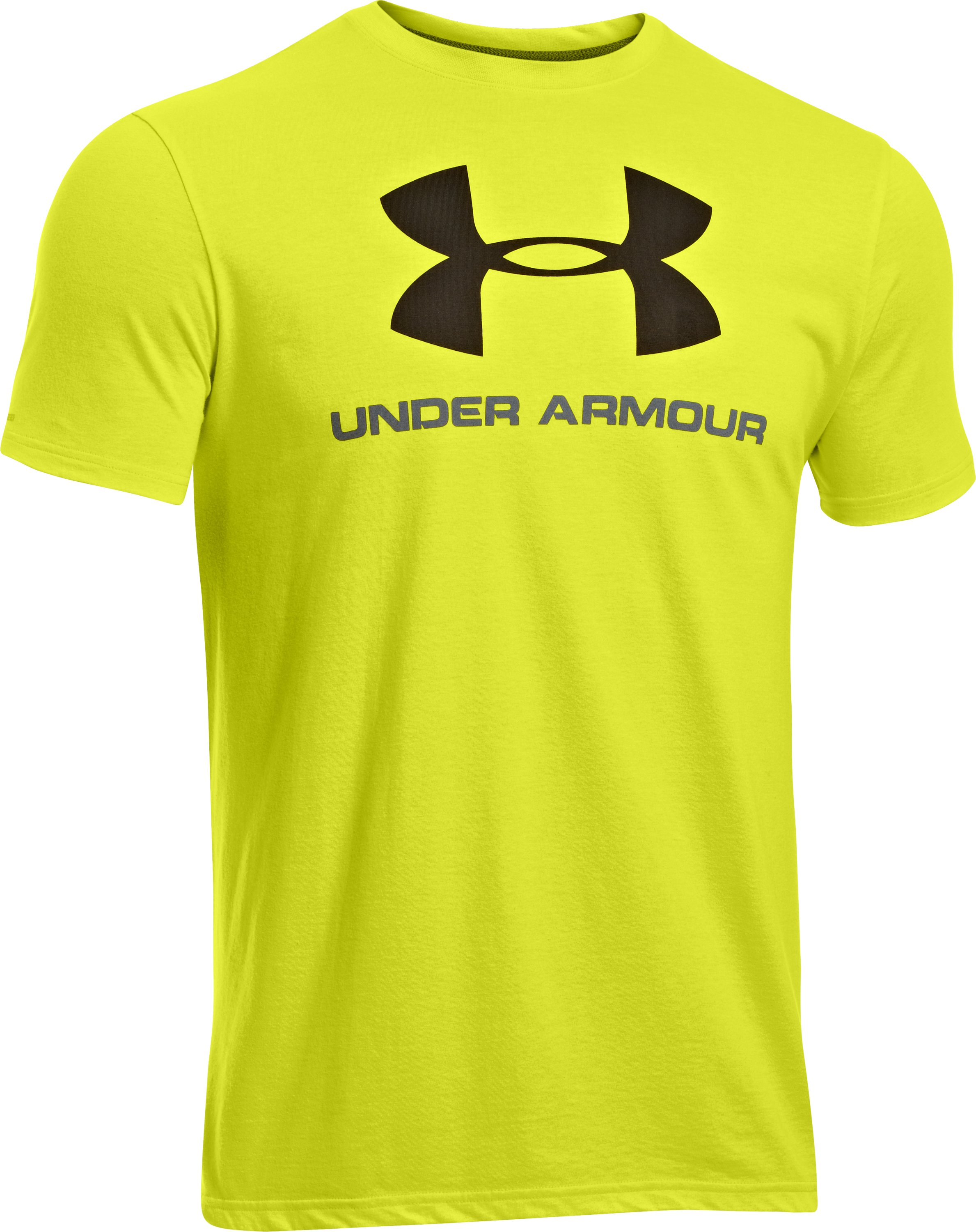 Men's UA Sportstyle Logo T-Shirt, Flash Light