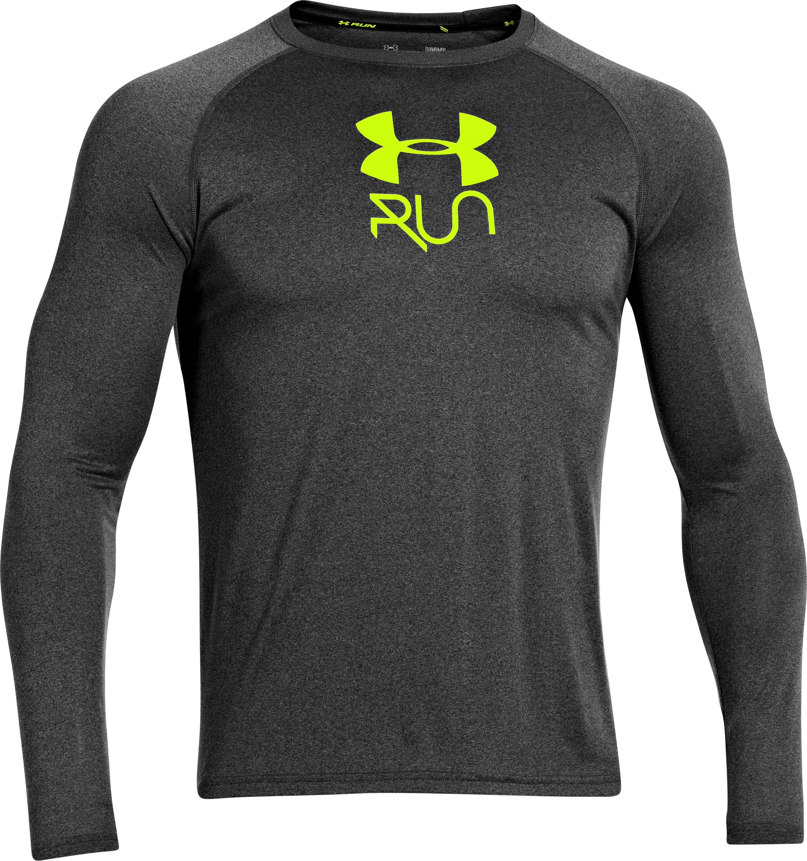 Men's UA Stop & Go Long Sleeve T-Shirt, Carbon Heather