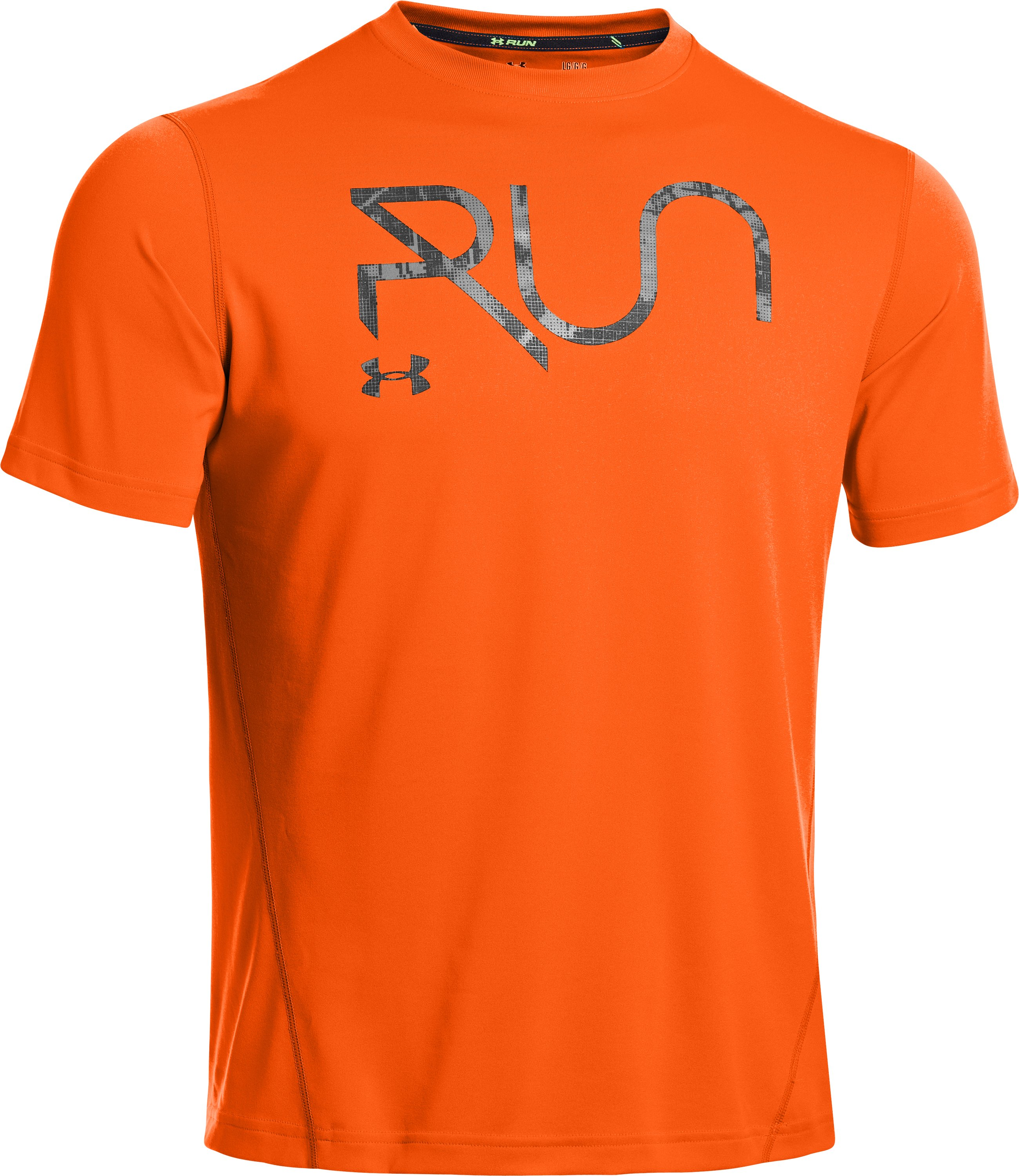 Men's UA All Over Grid T-Shirt, OUTRAGEOUS ORANGE,
