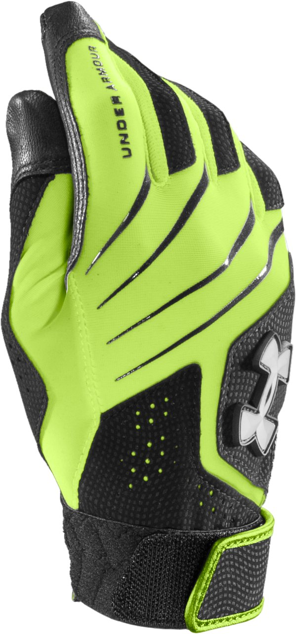 Women's UA Radar III Fastpitch Batting Glove, High-Vis Yellow, zoomed image