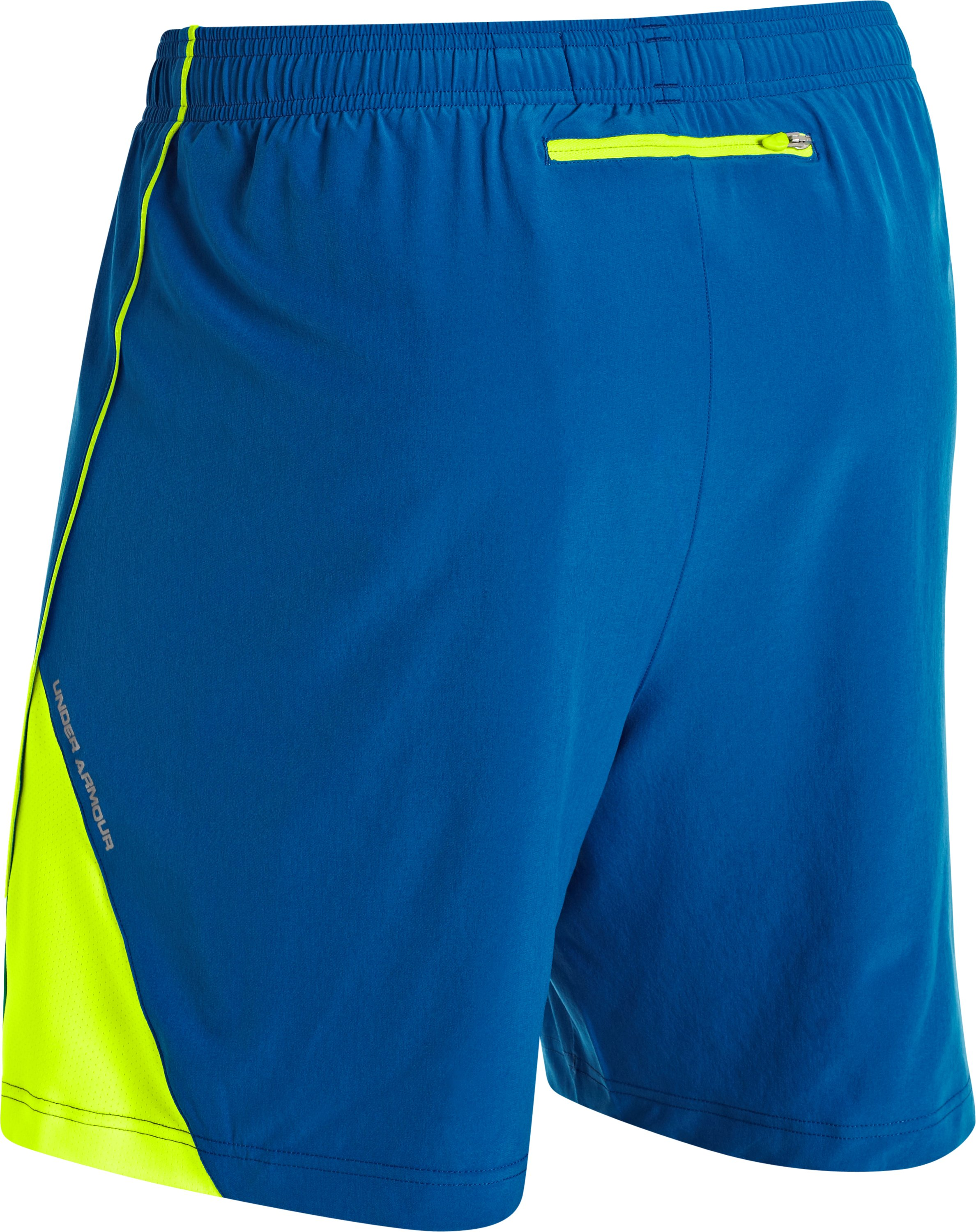 "Men's UA HeatGear® Flyweight Run 7"" Shorts, SUPERIOR BLUE"