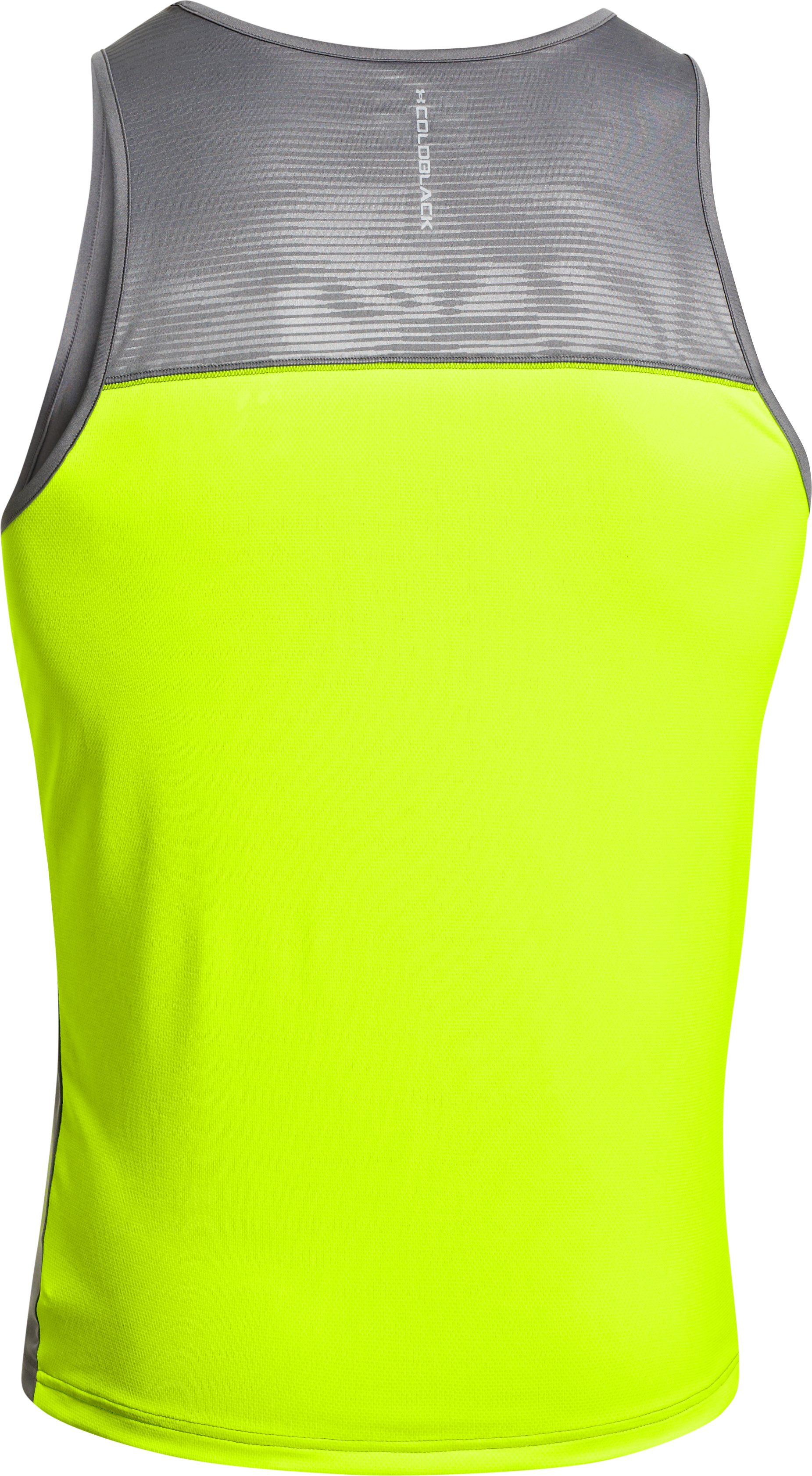 Men's coldblack® Run Singlet, Graphite, undefined