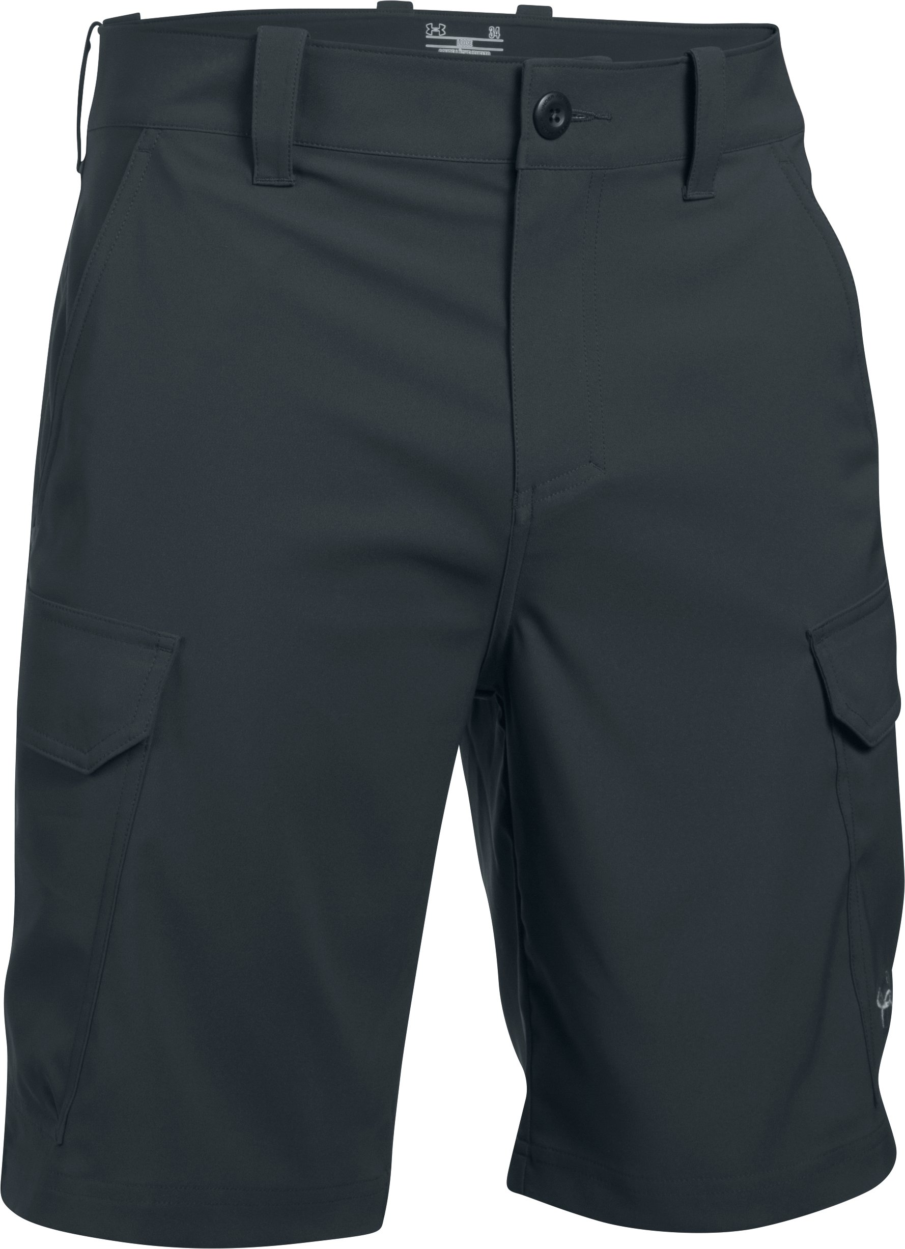 Men's UA Fish Hunter Cargo Shorts, ANTHRACITE, undefined