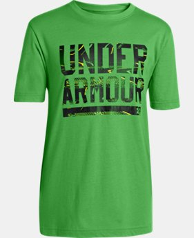 Boys' UA Script T-Shirt EXTRA 25% OFF ALREADY INCLUDED 1 Color $11.24