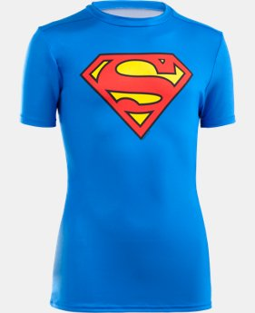 Boys' UA Super Hero Fitted Shirt LIMITED TIME: FREE SHIPPING 1 Color $22.49