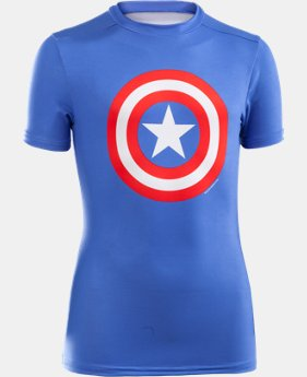 Boys' UA Super Hero Fitted Shirt LIMITED TIME: FREE SHIPPING  $39.99