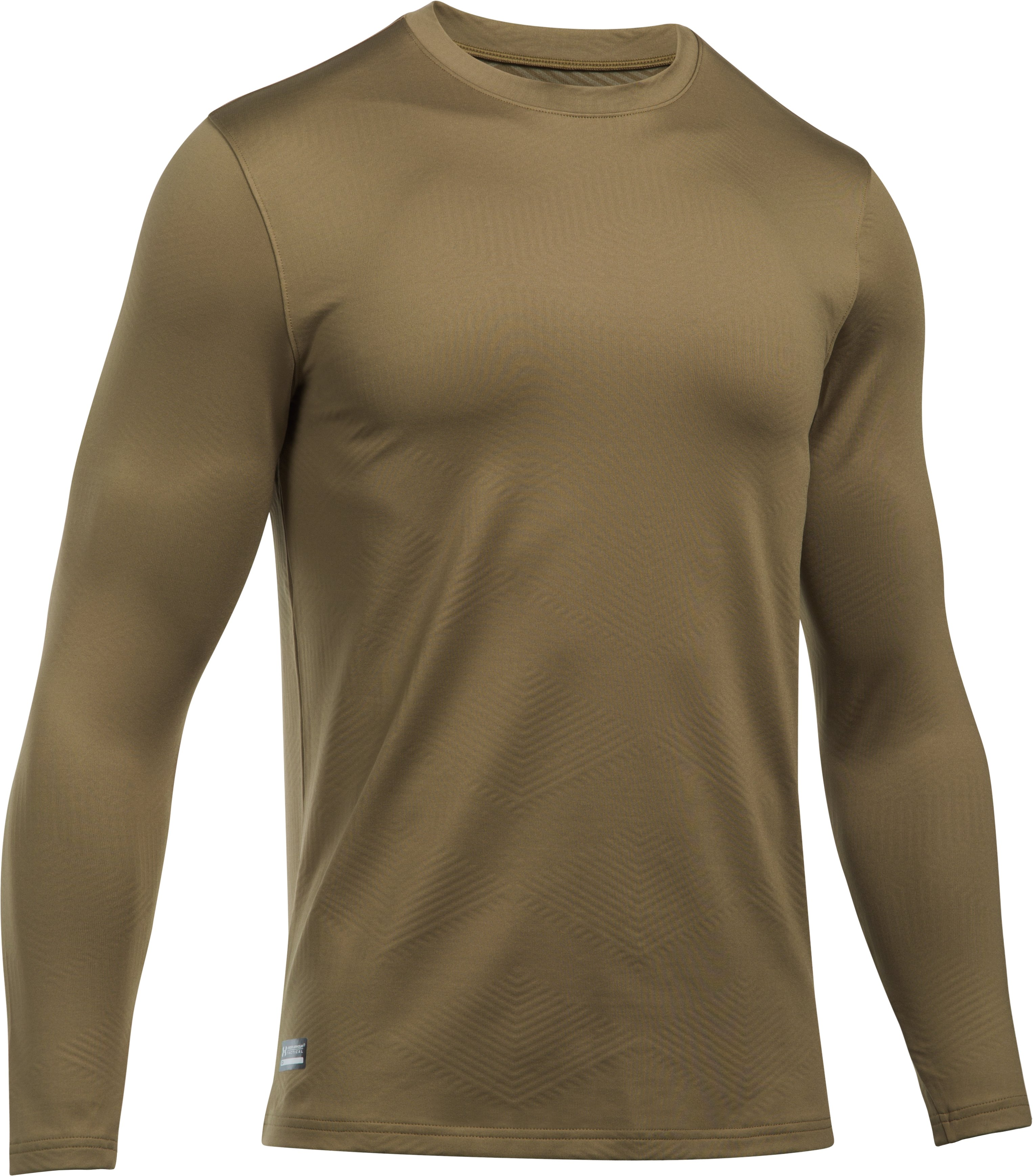 Men's ColdGear® Infrared Tactical Fitted Crew, Coyote Brown,