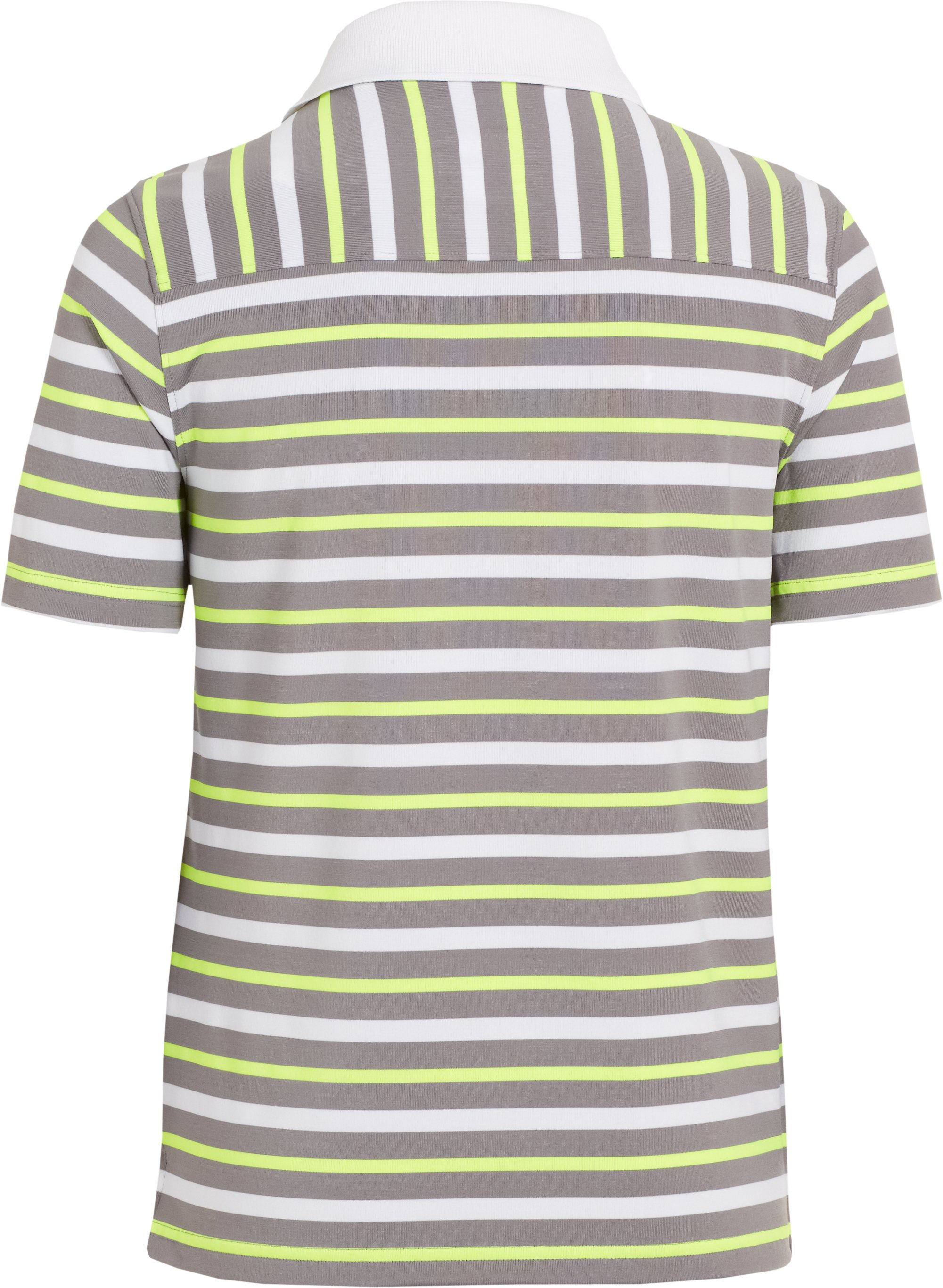 Boys' UA Classic Stripe Polo, White