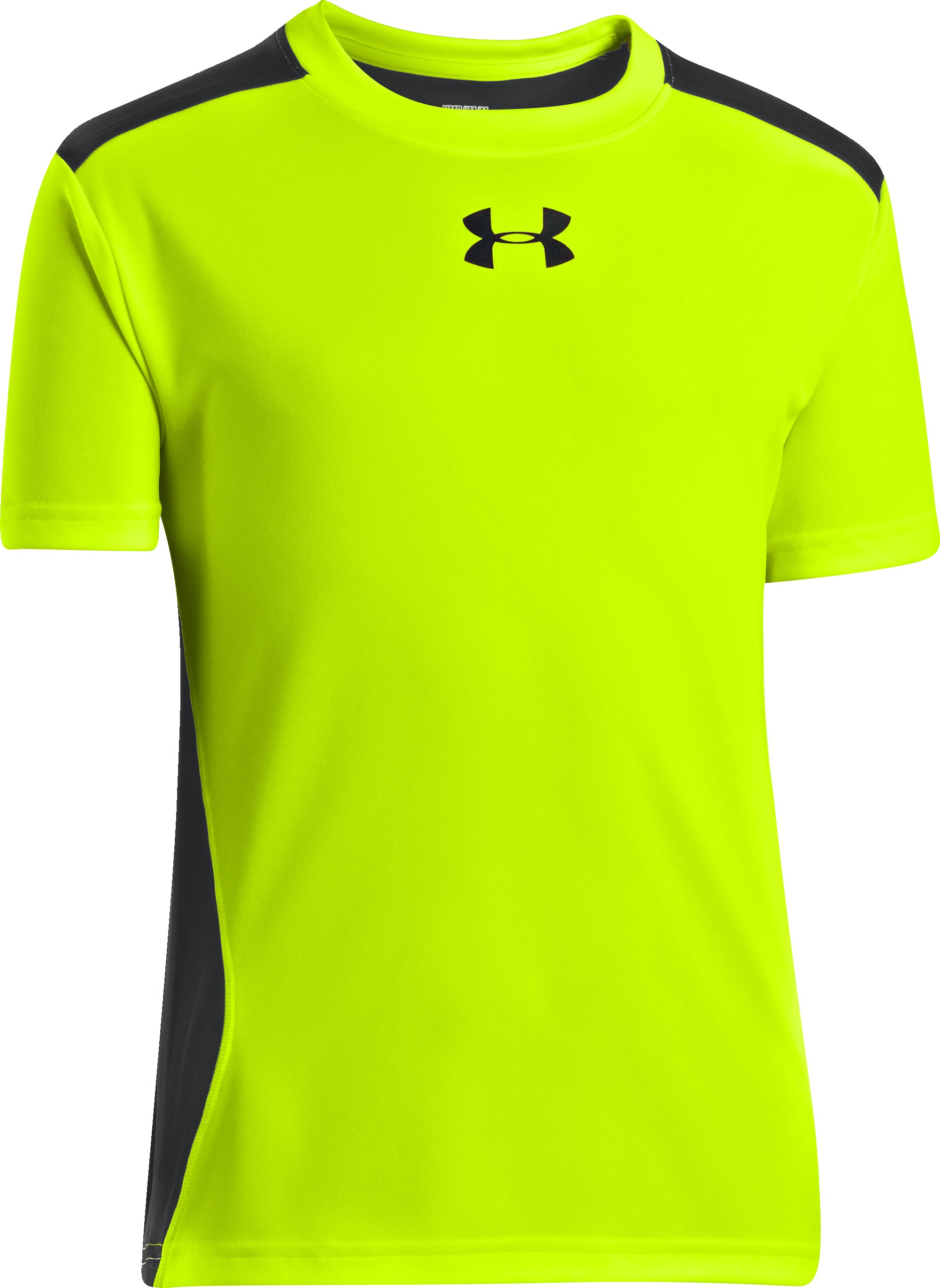 Boys' UA Show Me Sweat T-Shirt, High-Vis Yellow, undefined