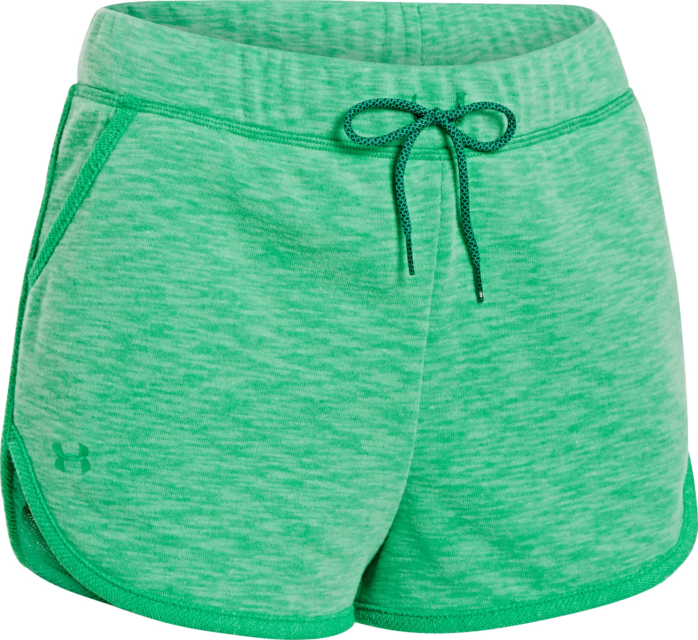 Women's UA Rollick Shorty, EMERALD LAKE