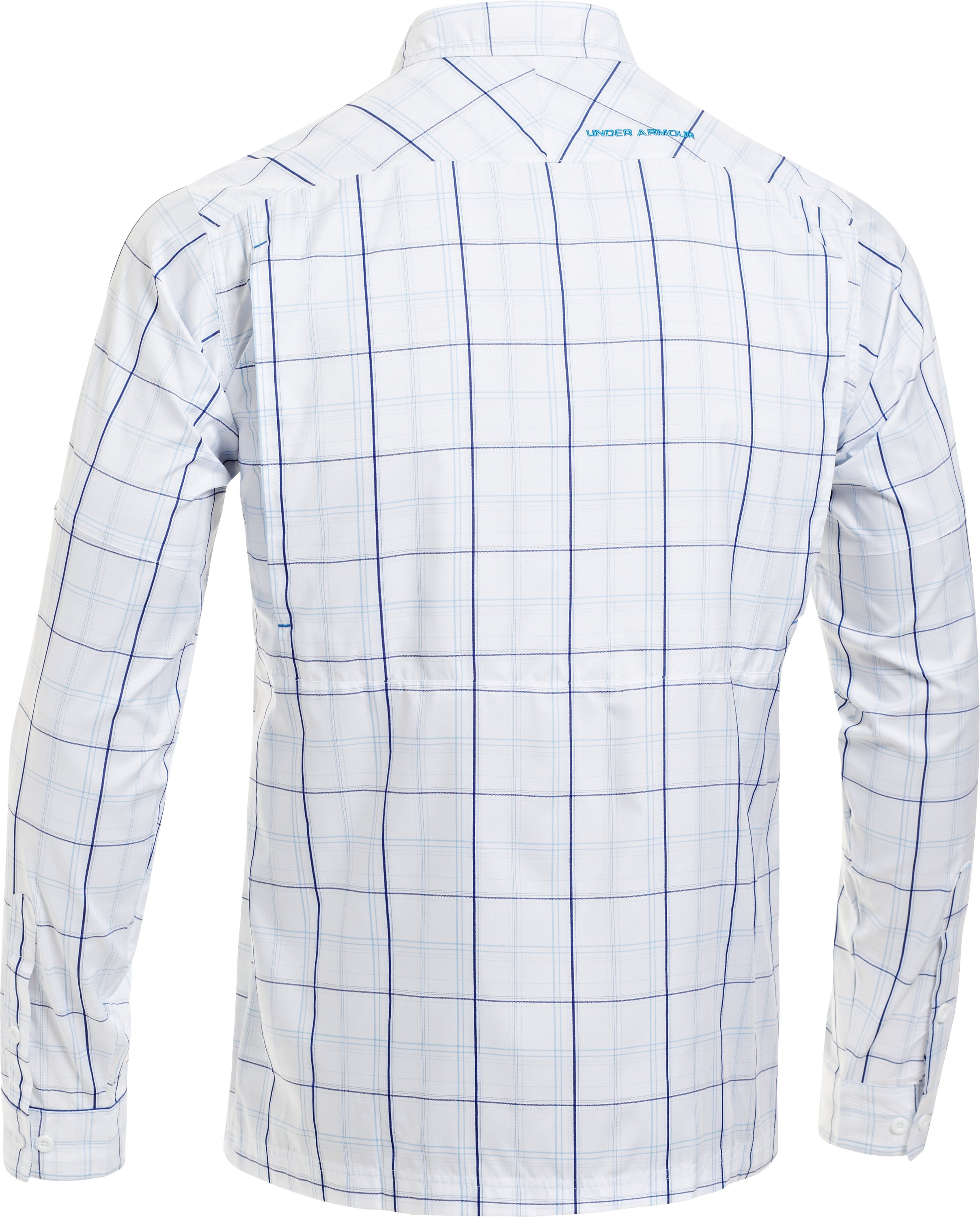 Men's UA Flats Guide Plaid Long Sleeve Shirt, White