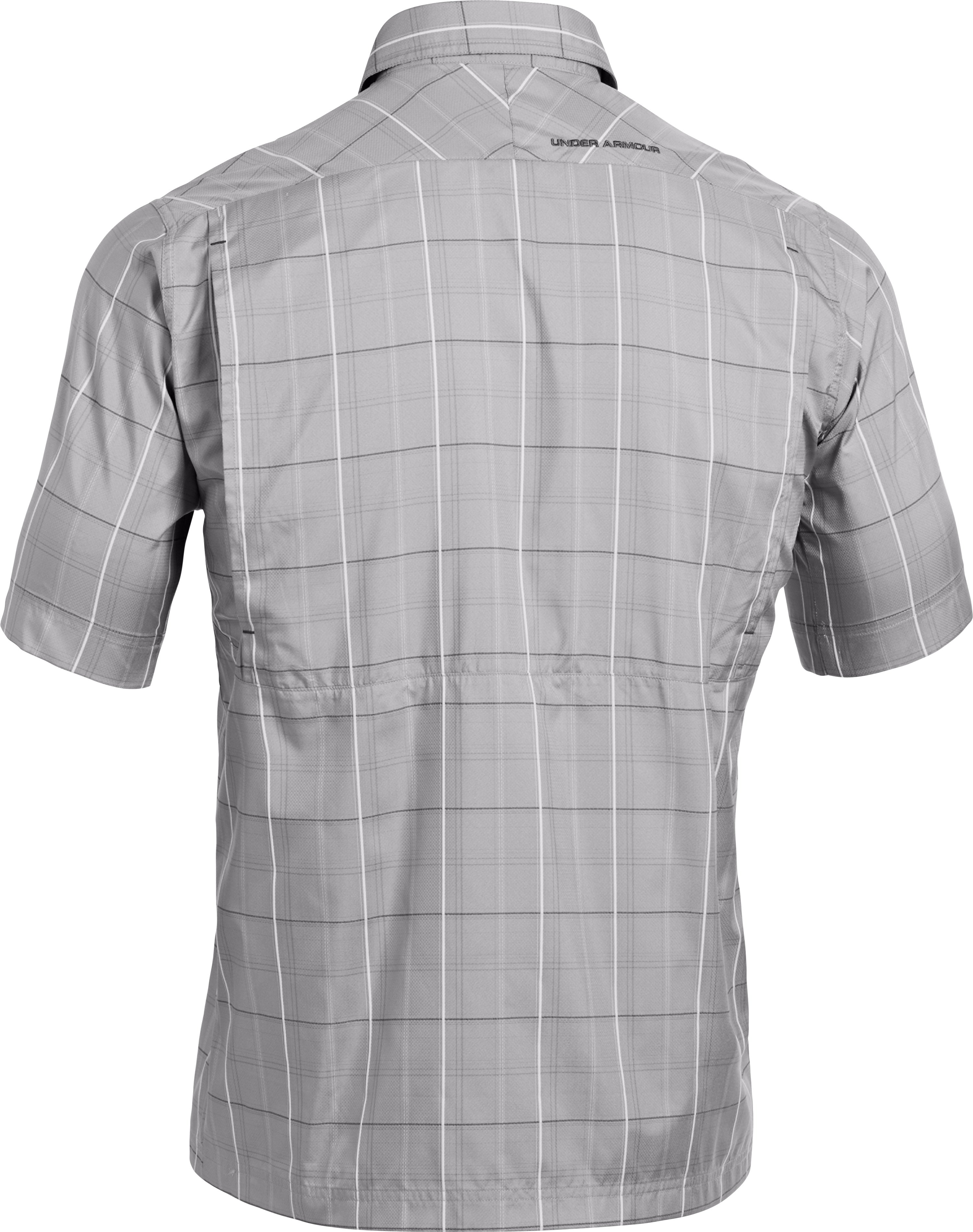 Men's UA Flats Guide Plaid Short Sleeve Shirt, BOULDER