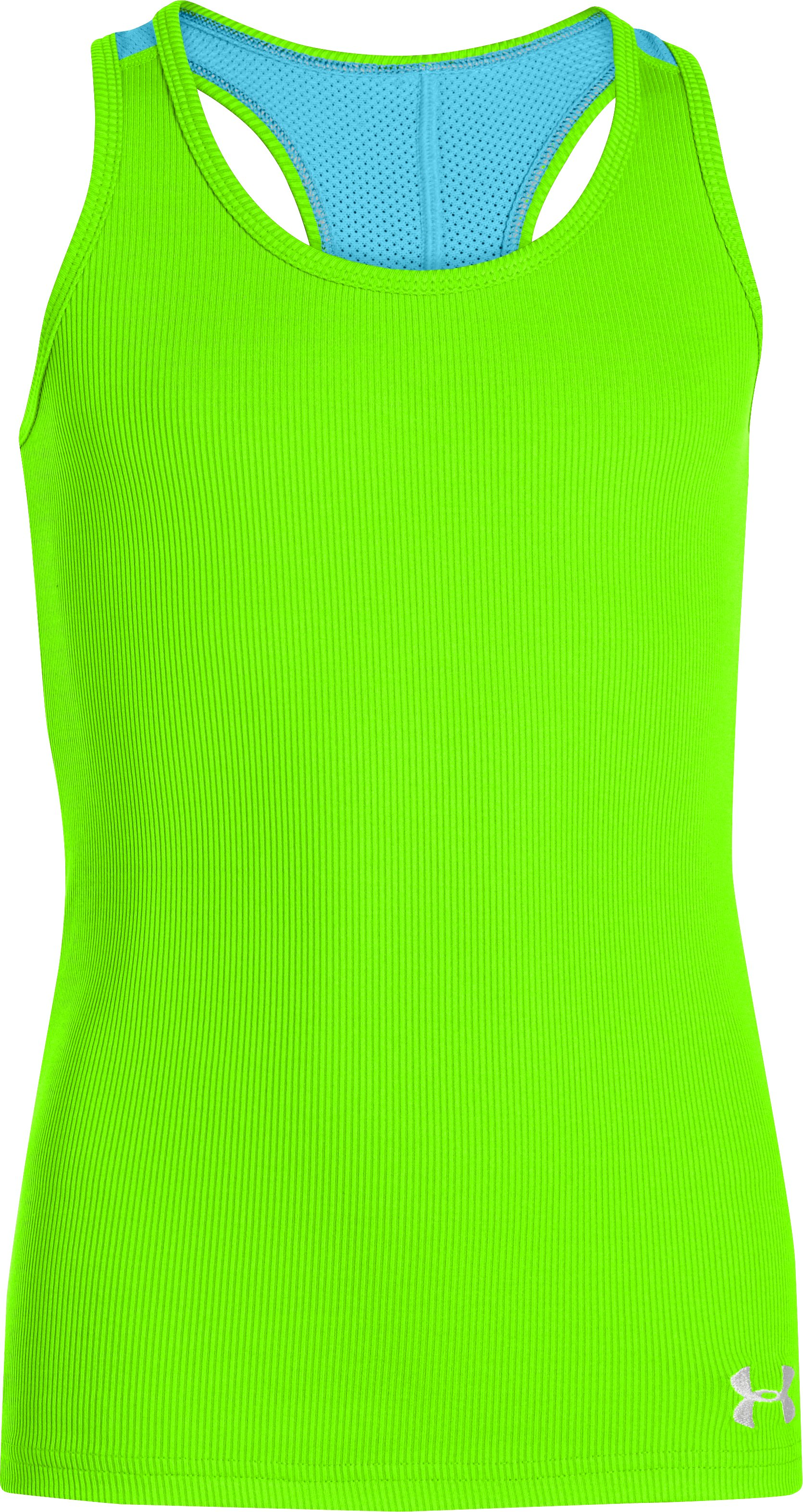 Girls' UA Victory Tank, HYPER GREEN,