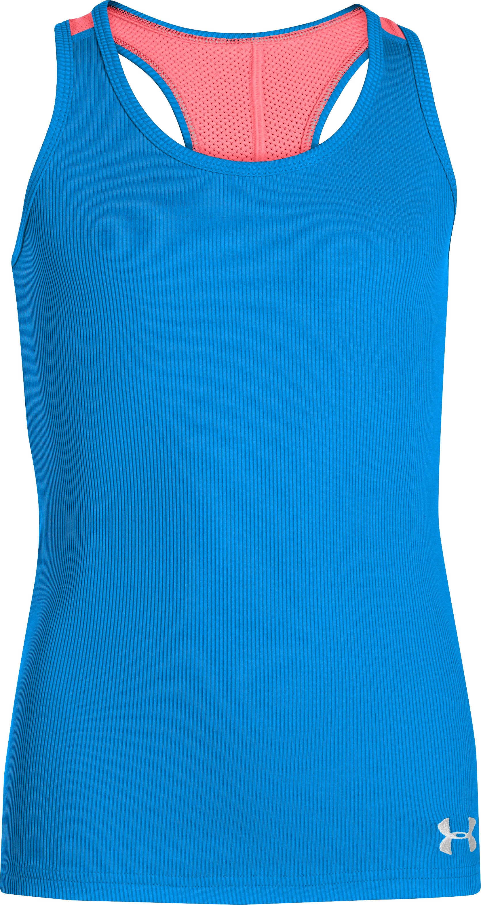 Girls' UA Victory Tank, ELECTRIC BLUE, zoomed image