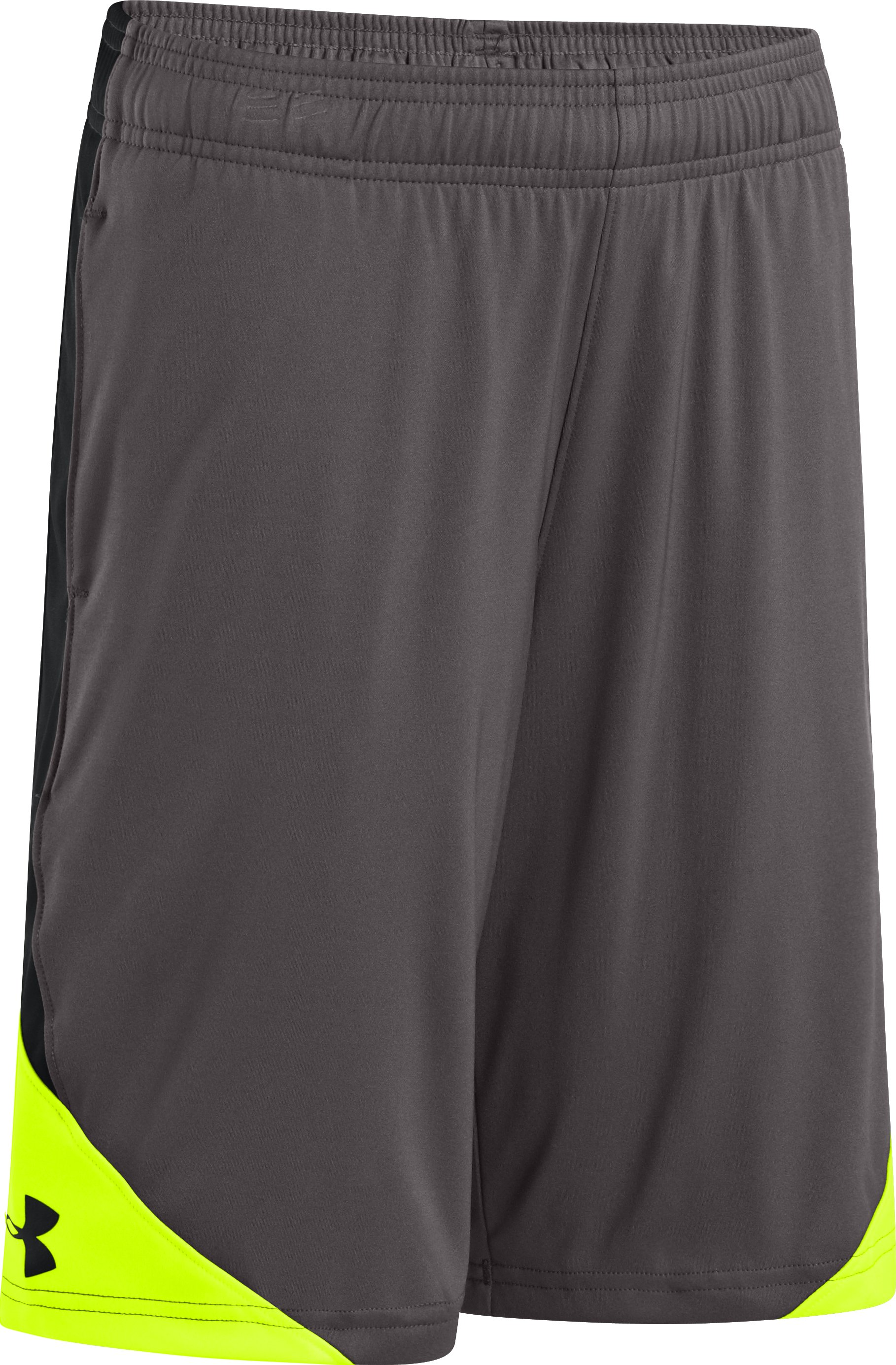 Boys' UA Extreme Shorts, Charcoal, zoomed image
