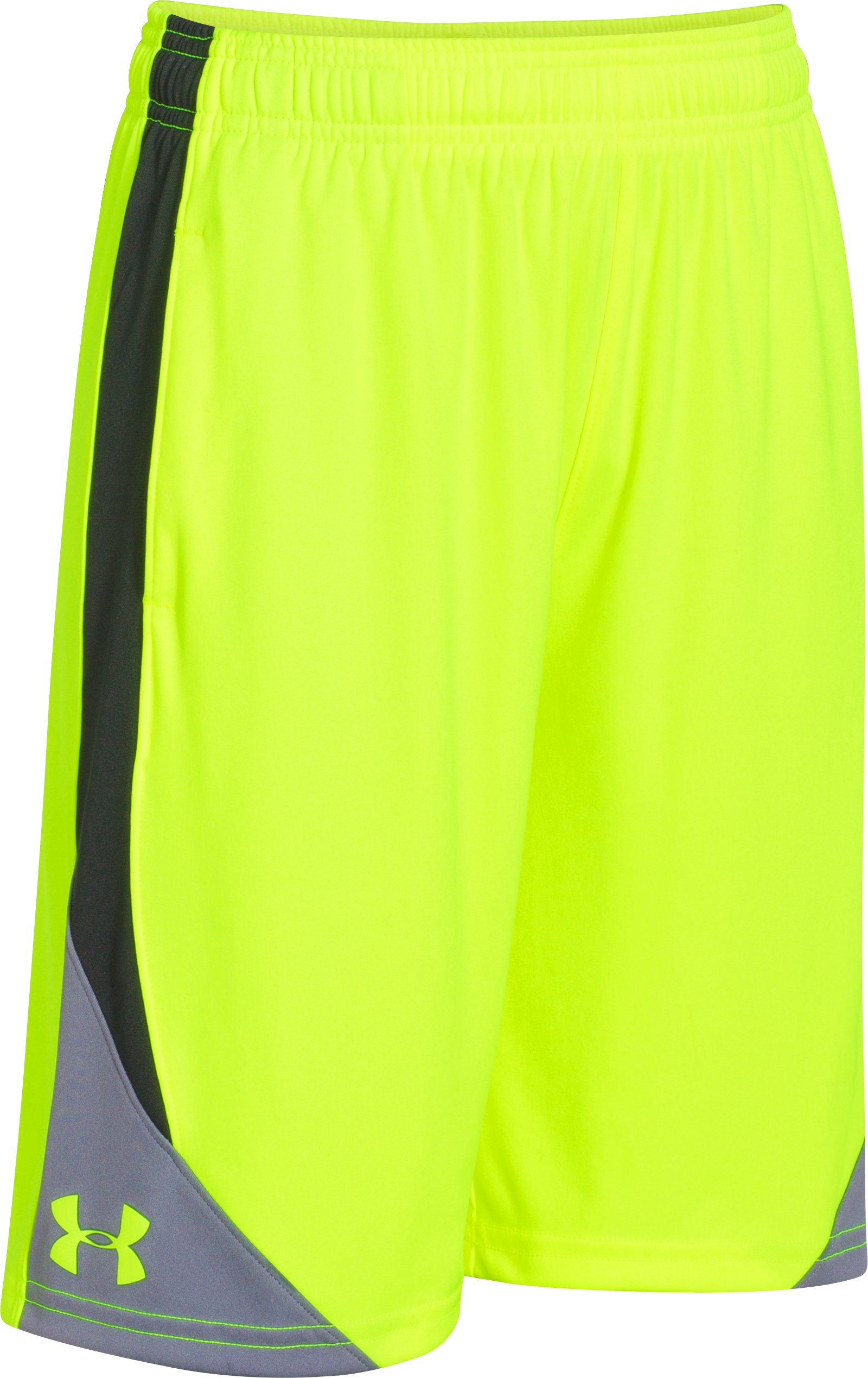 Boys' UA Extreme Shorts, High-Vis Yellow, zoomed image