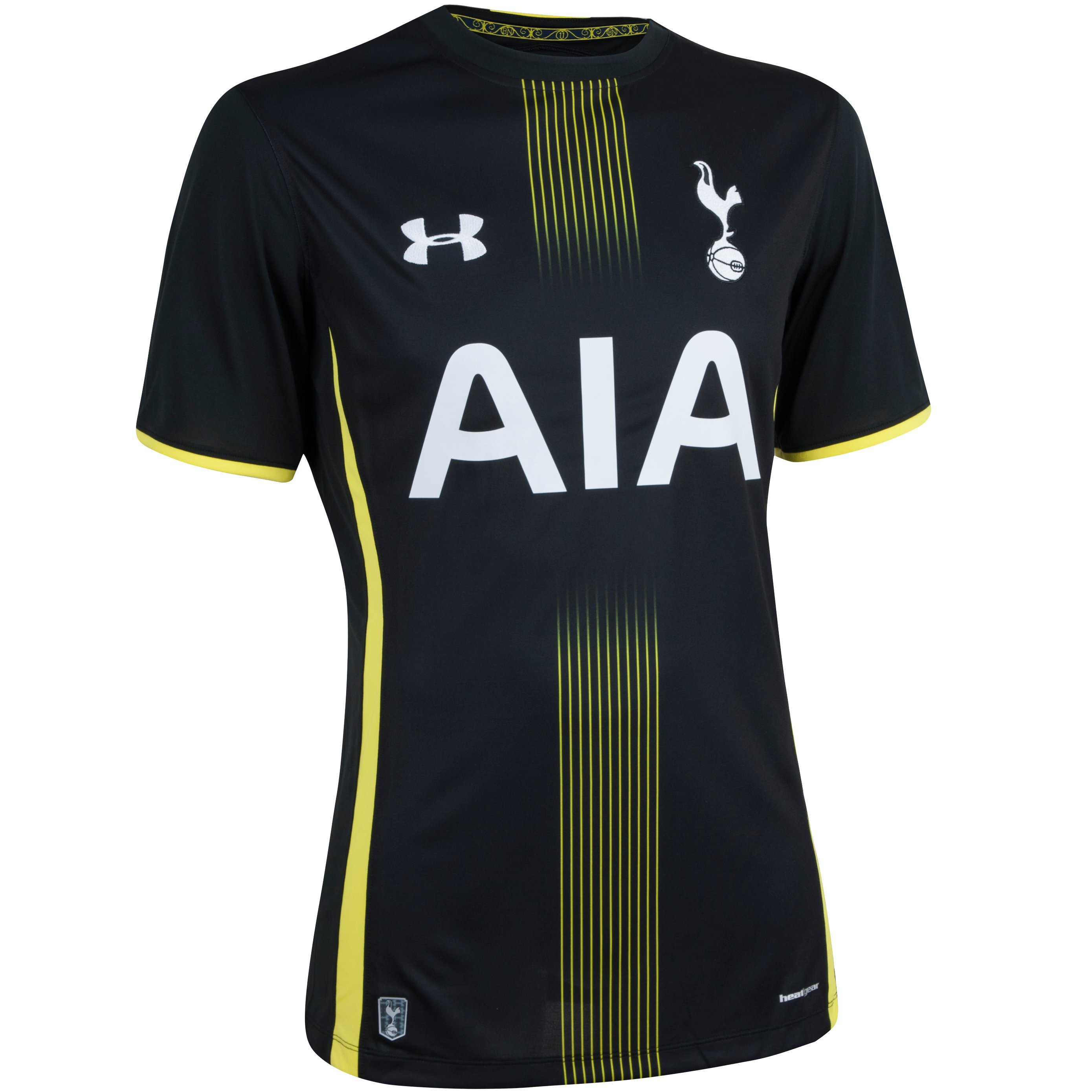 Men's Tottenham Hotspur 14/15 Away Replica Short Sleeve Shirt, Black ,