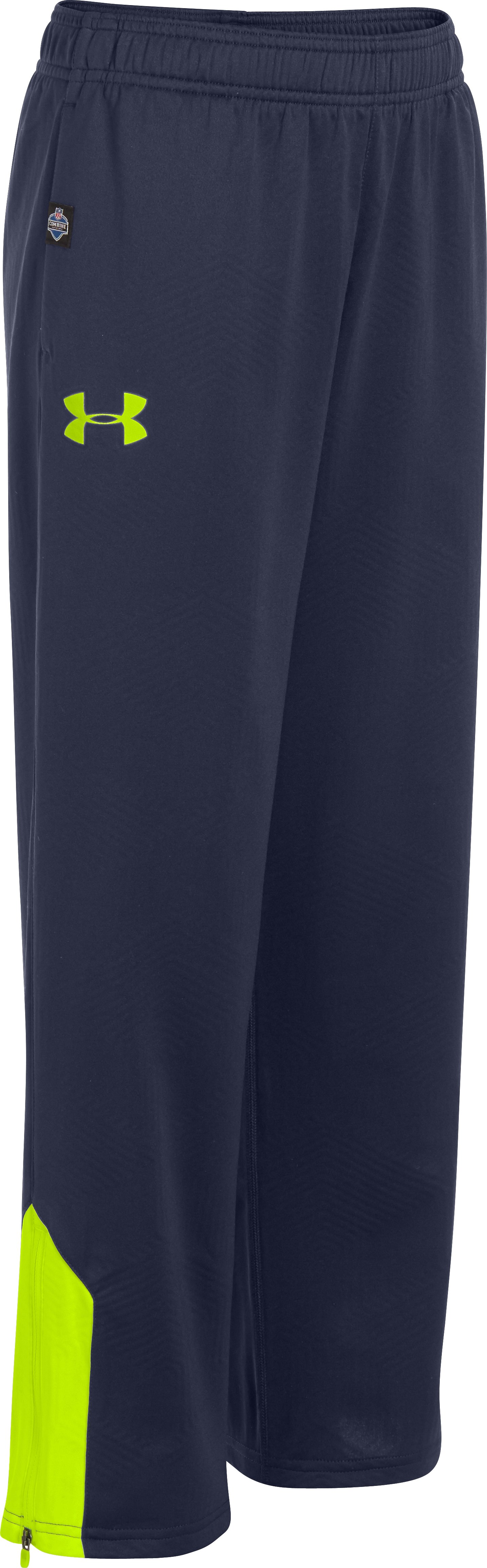 Boys' NFL Combine Authentic ColdGear® Infrared Warm-Up Pants, Midnight Navy, zoomed image