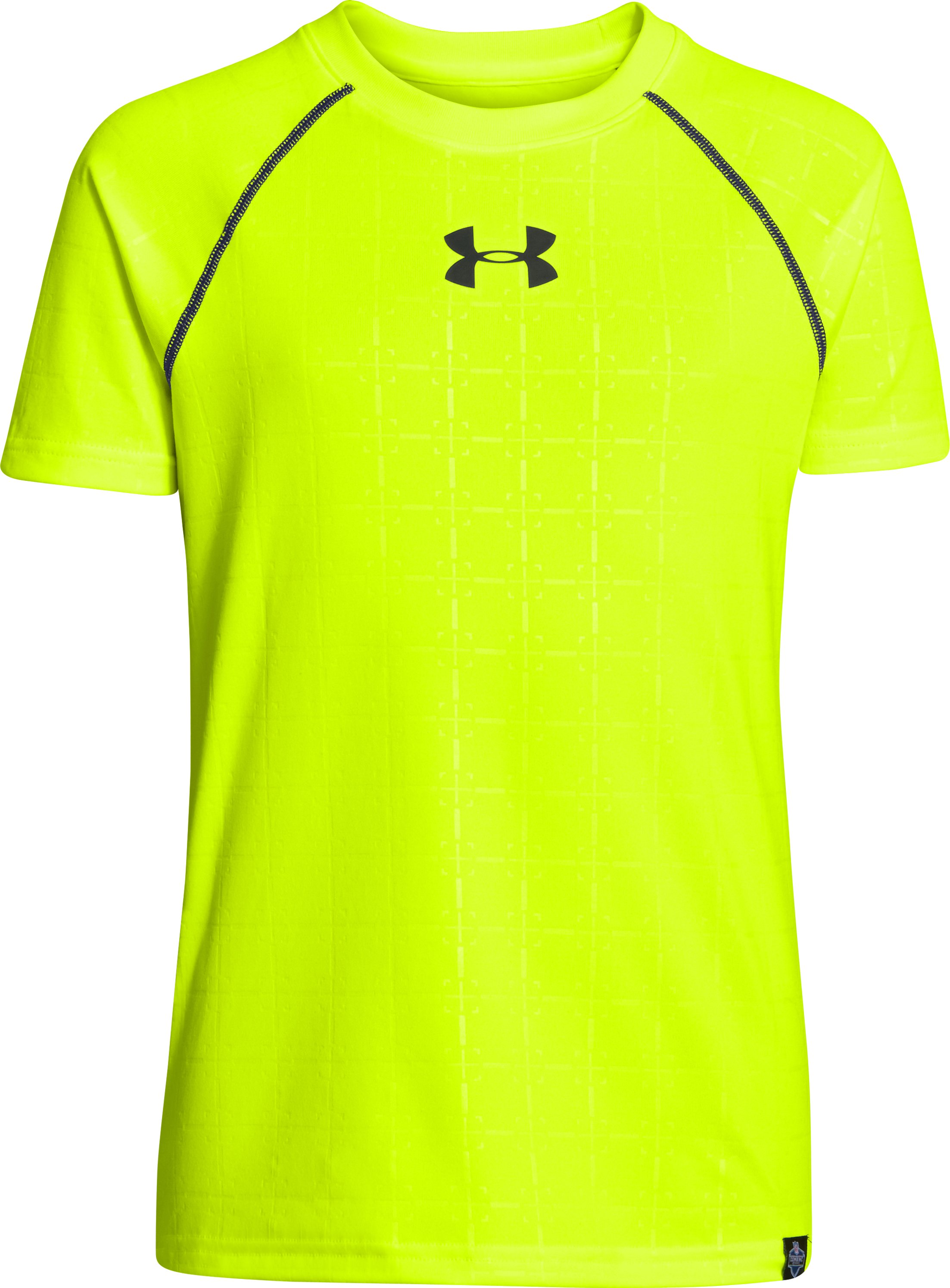 Boys' NFL Combine Authentic Training T-Shirt, High-Vis Yellow, zoomed image