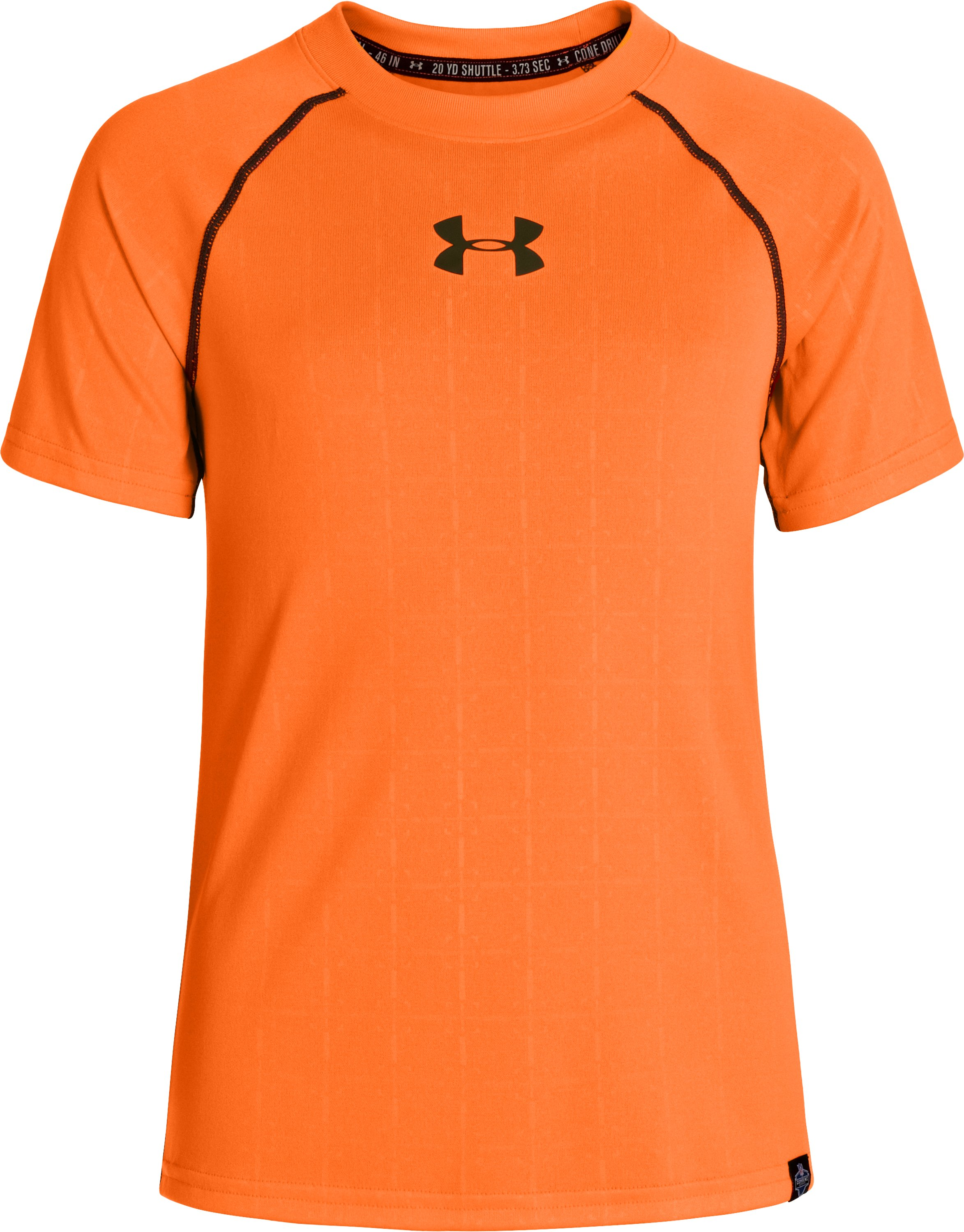Boys' NFL Combine Authentic Training T-Shirt, Blaze Orange, zoomed image
