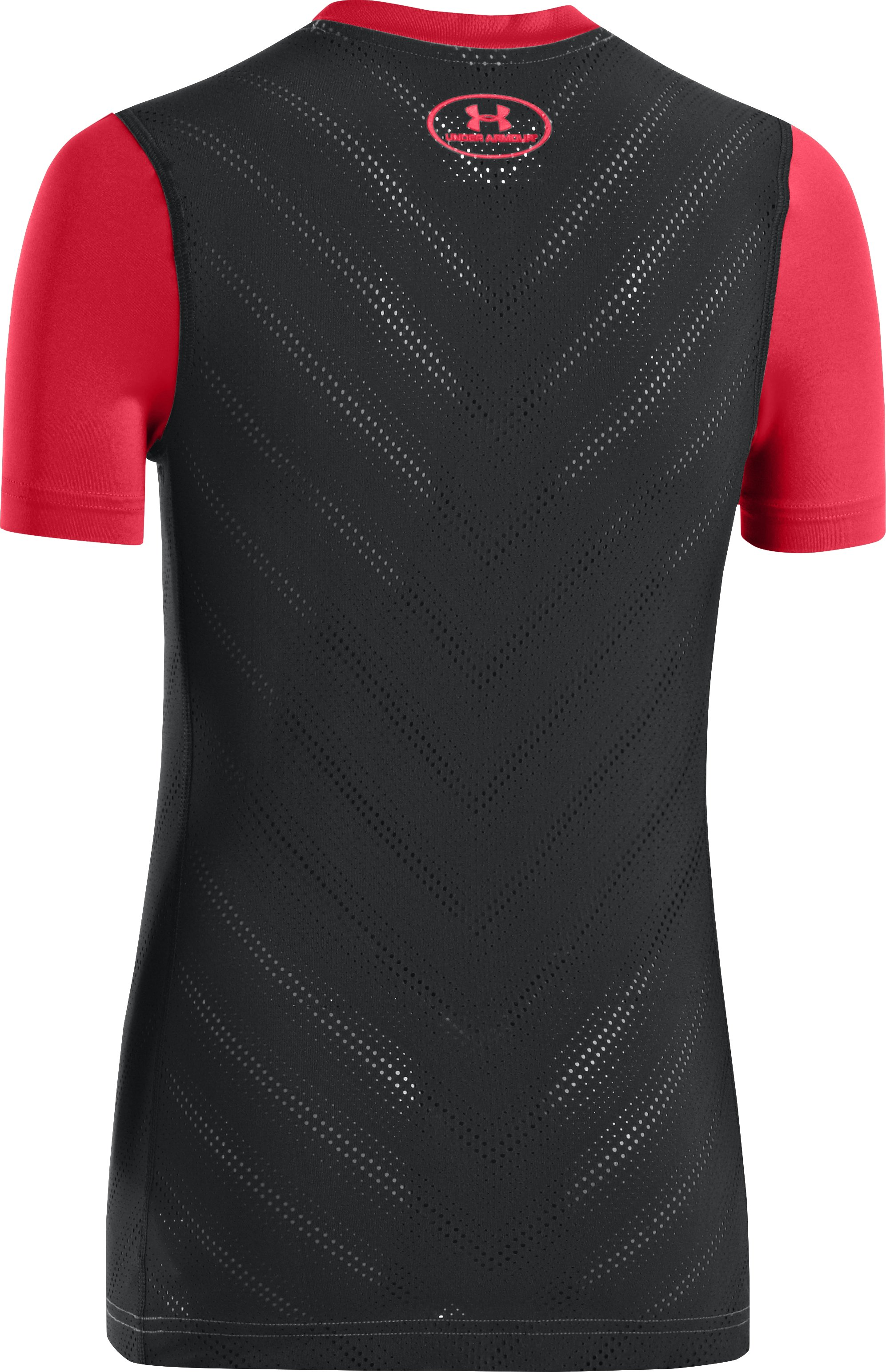 Boys' HeatGear® Sonic ArmourVent™ Short Sleeve, Red