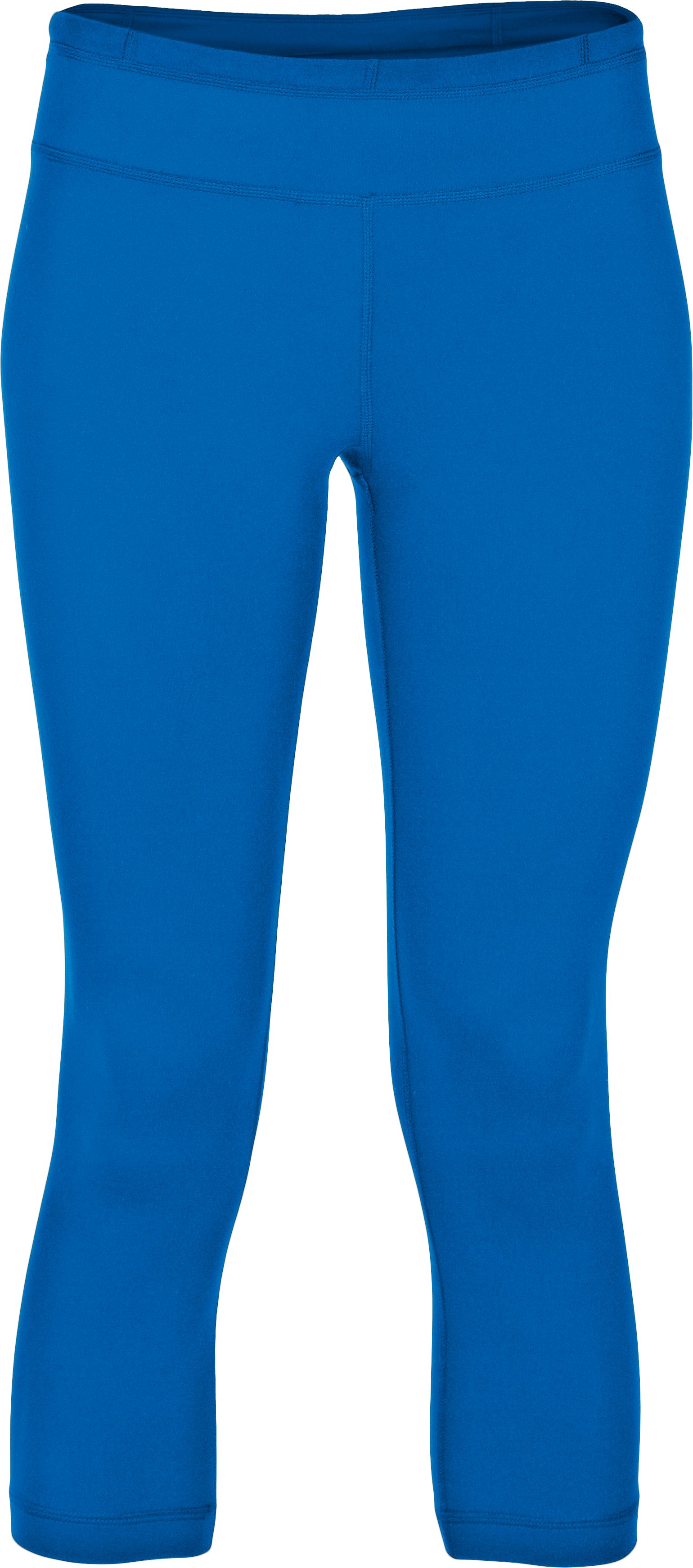 Women's UA StudioLux® Tight Capri, ELECTRIC BLUE
