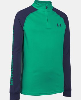 Boys' UA Tech™ ¼ Zip LIMITED TIME: FREE U.S. SHIPPING 2 Colors $25.99 to $26.99