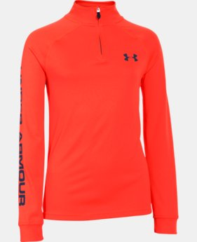 Boys' UA Tech™ ¼ Zip  4 Colors $25.99 to $26.99