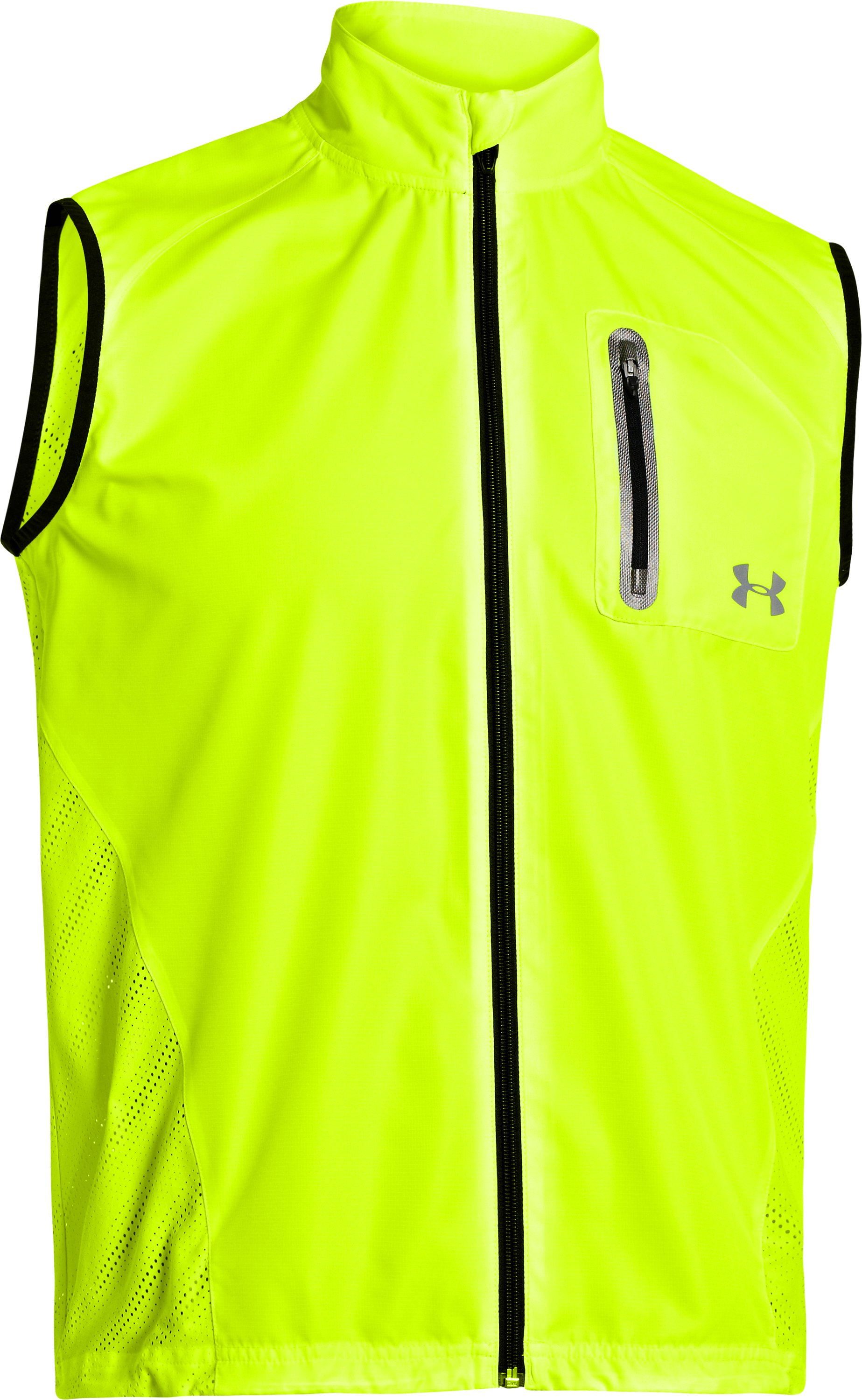 Men's ArmourVent™ Run Vest, High-Vis Yellow