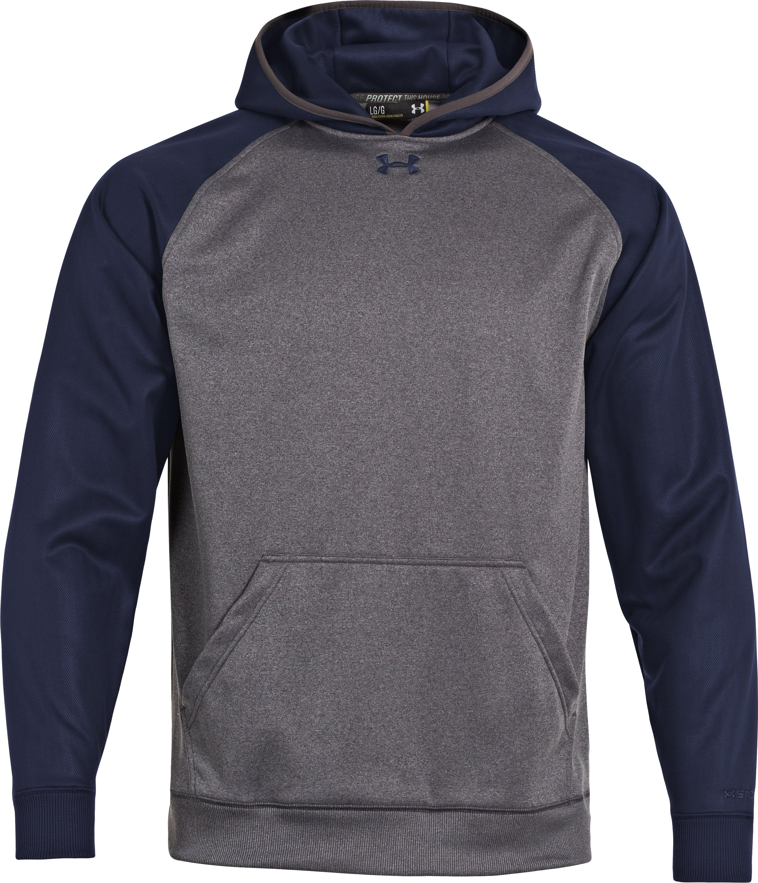 Men's UA Storm Armour® Fleece Team Hoodie, Carbon Heather