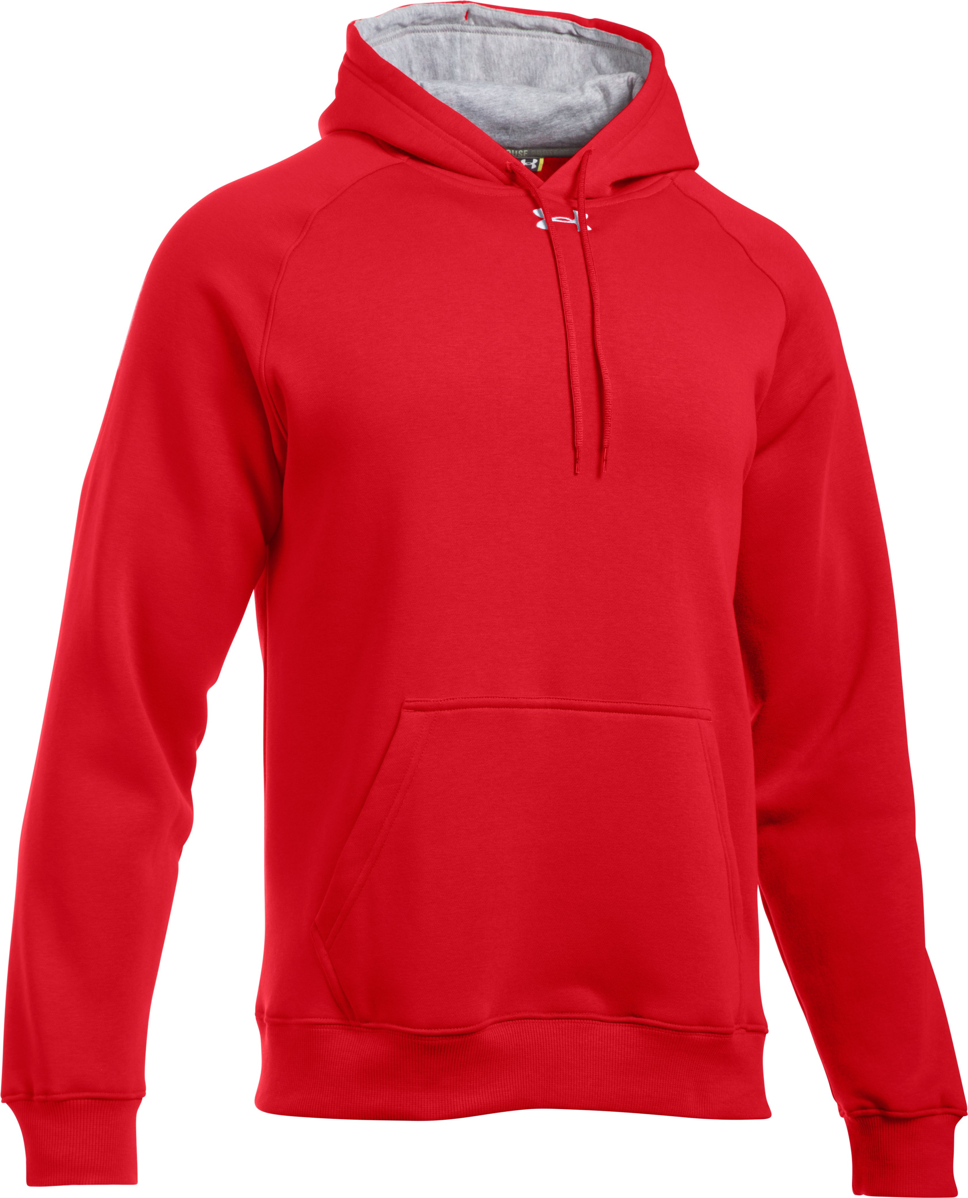 Men's UA Rival Fleece Team Hoodie, Red