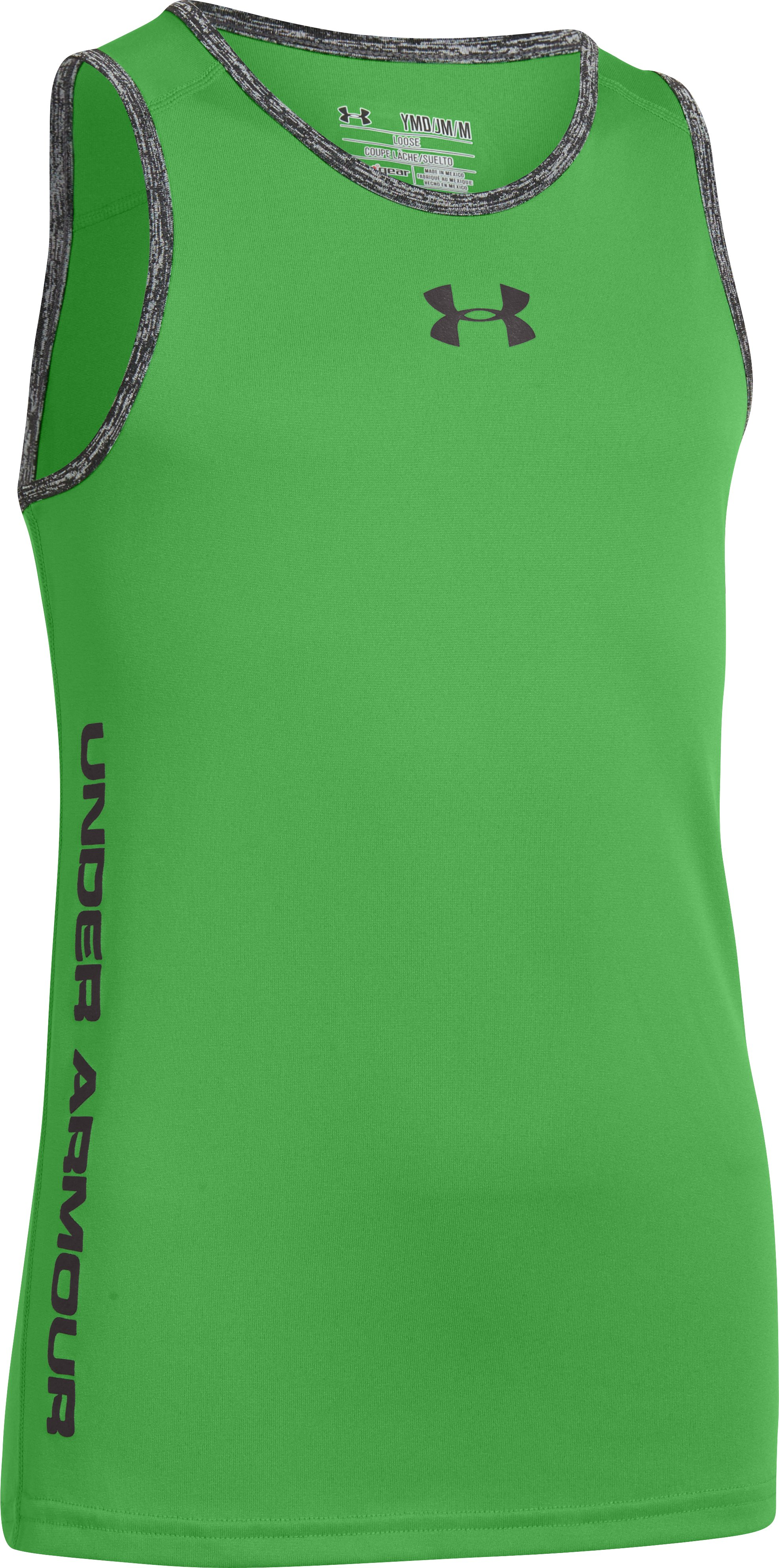 Boys' UA Tech™ Tank, Lizard, zoomed image