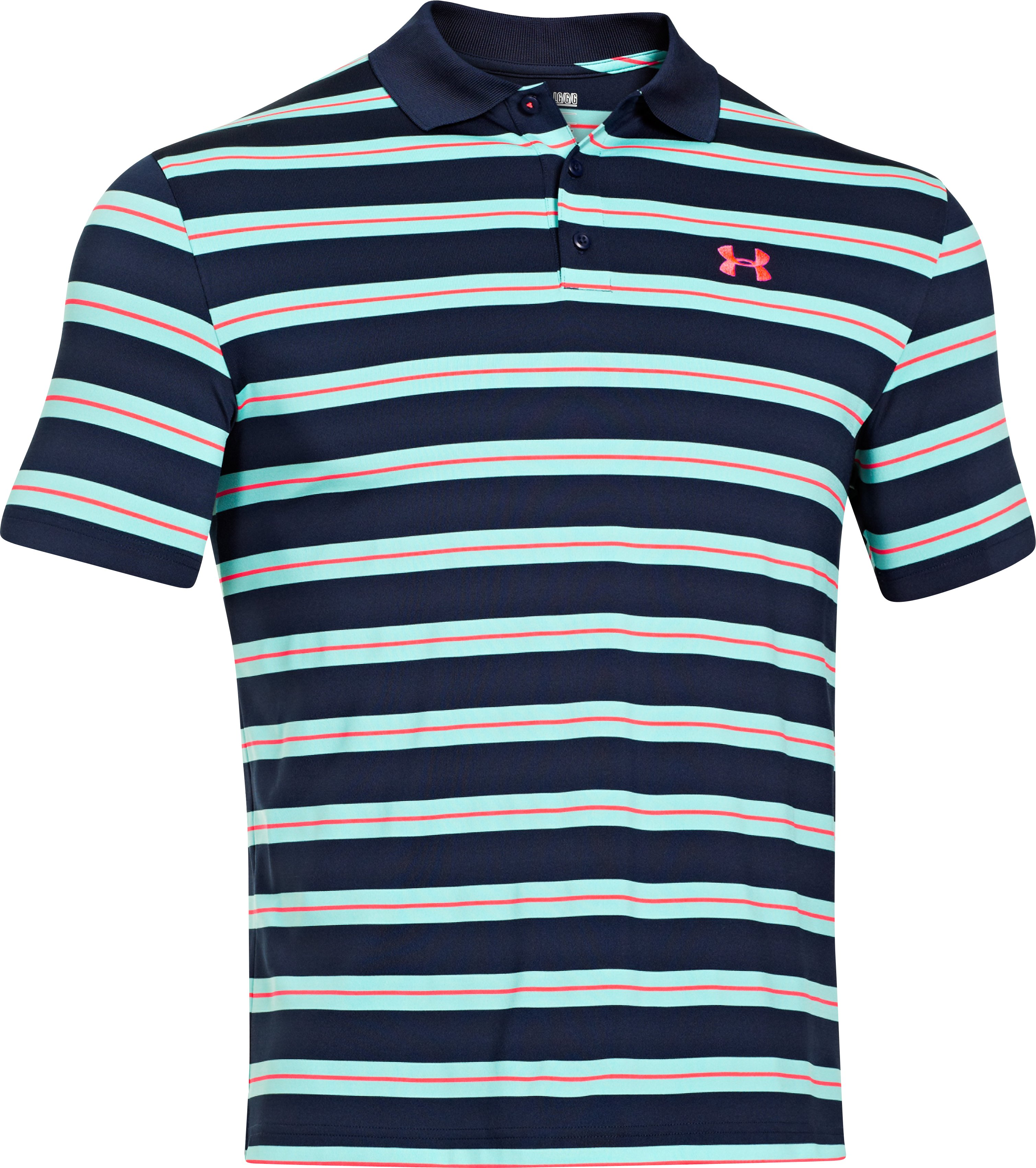 Men's UA Easy Money Stripe Polo, Academy, undefined