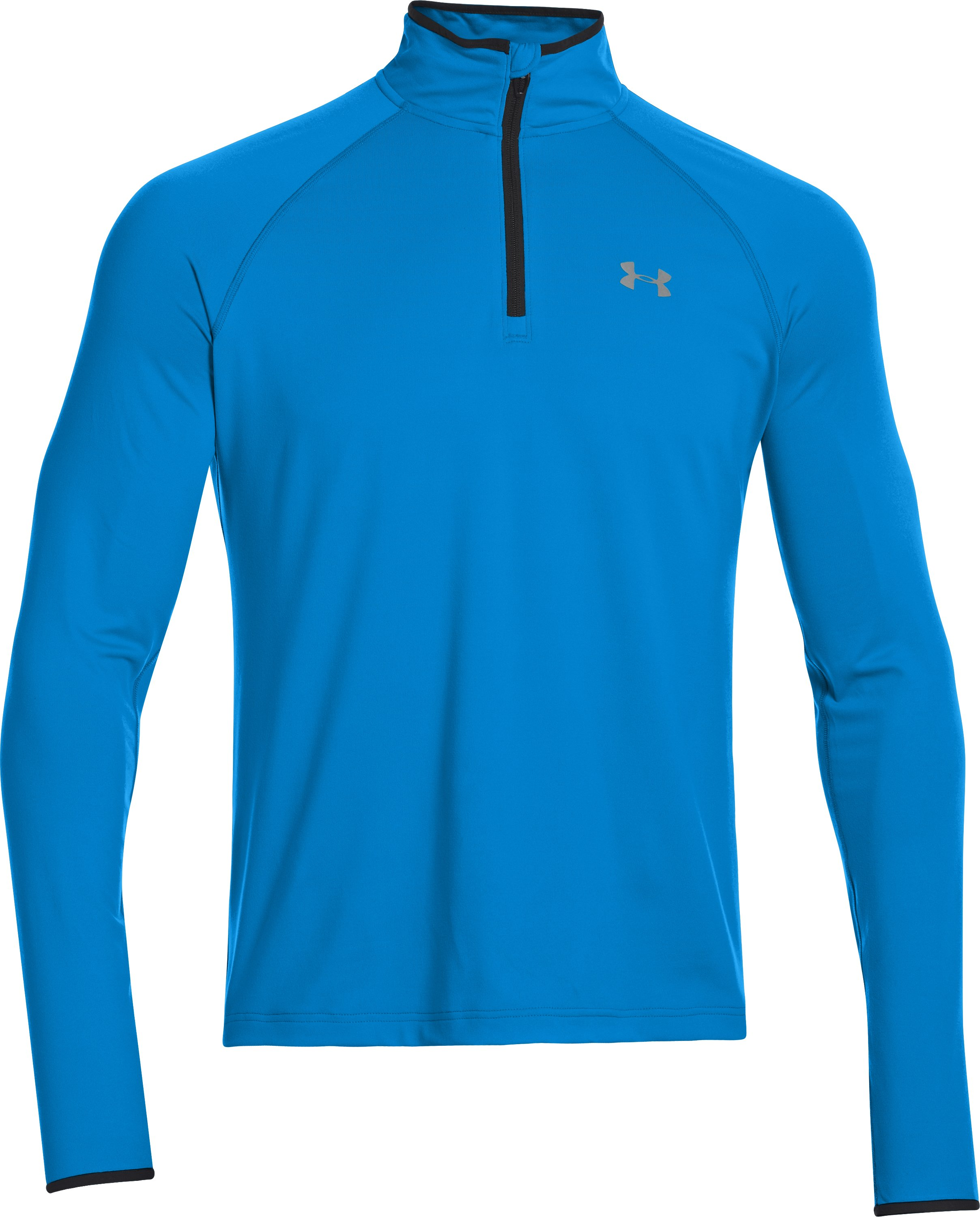 Men's UA HeatGear® Flyweight Run ¼ Zip, ELECTRIC BLUE, undefined