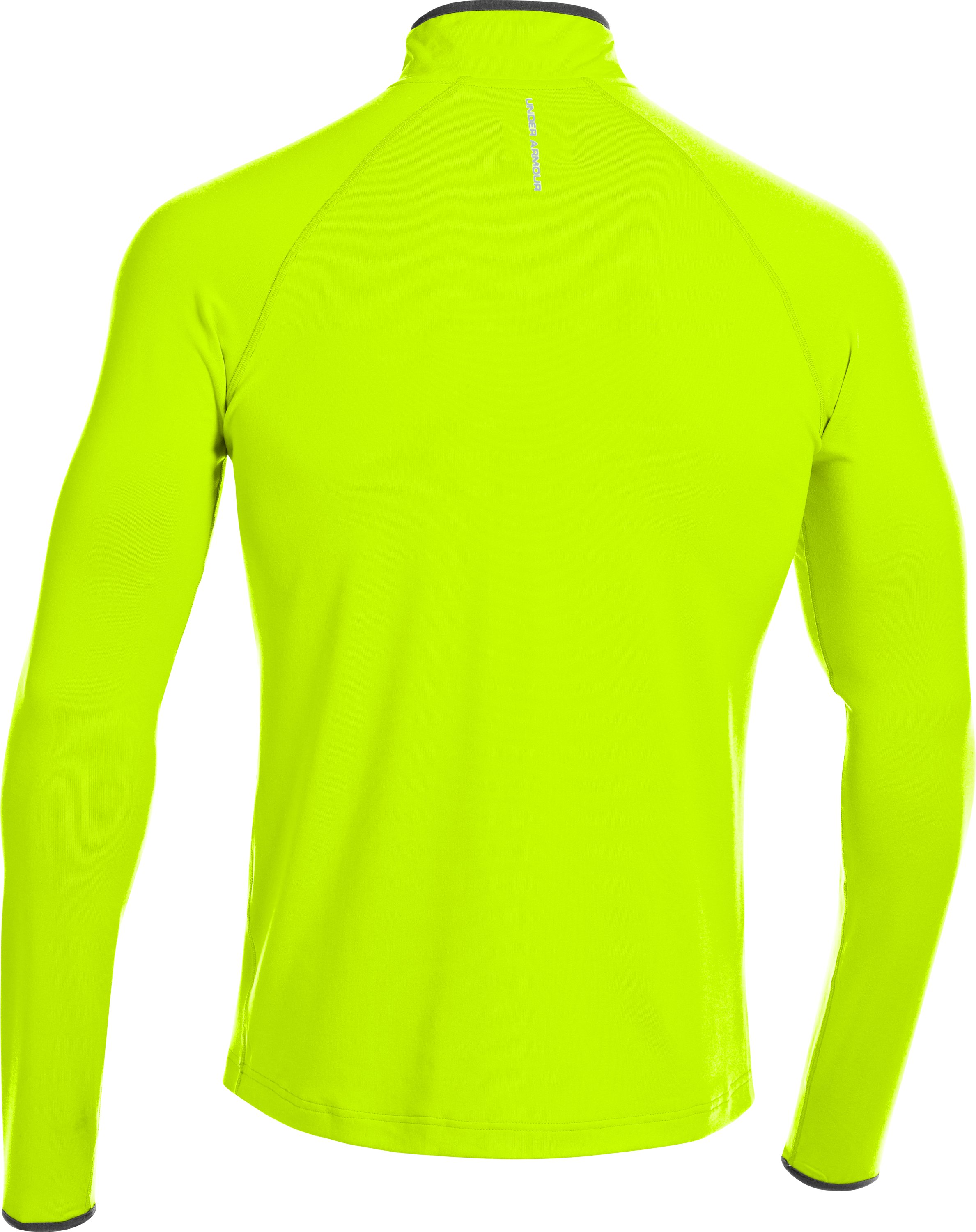 Men's UA HeatGear® Flyweight Run ¼ Zip, High-Vis Yellow