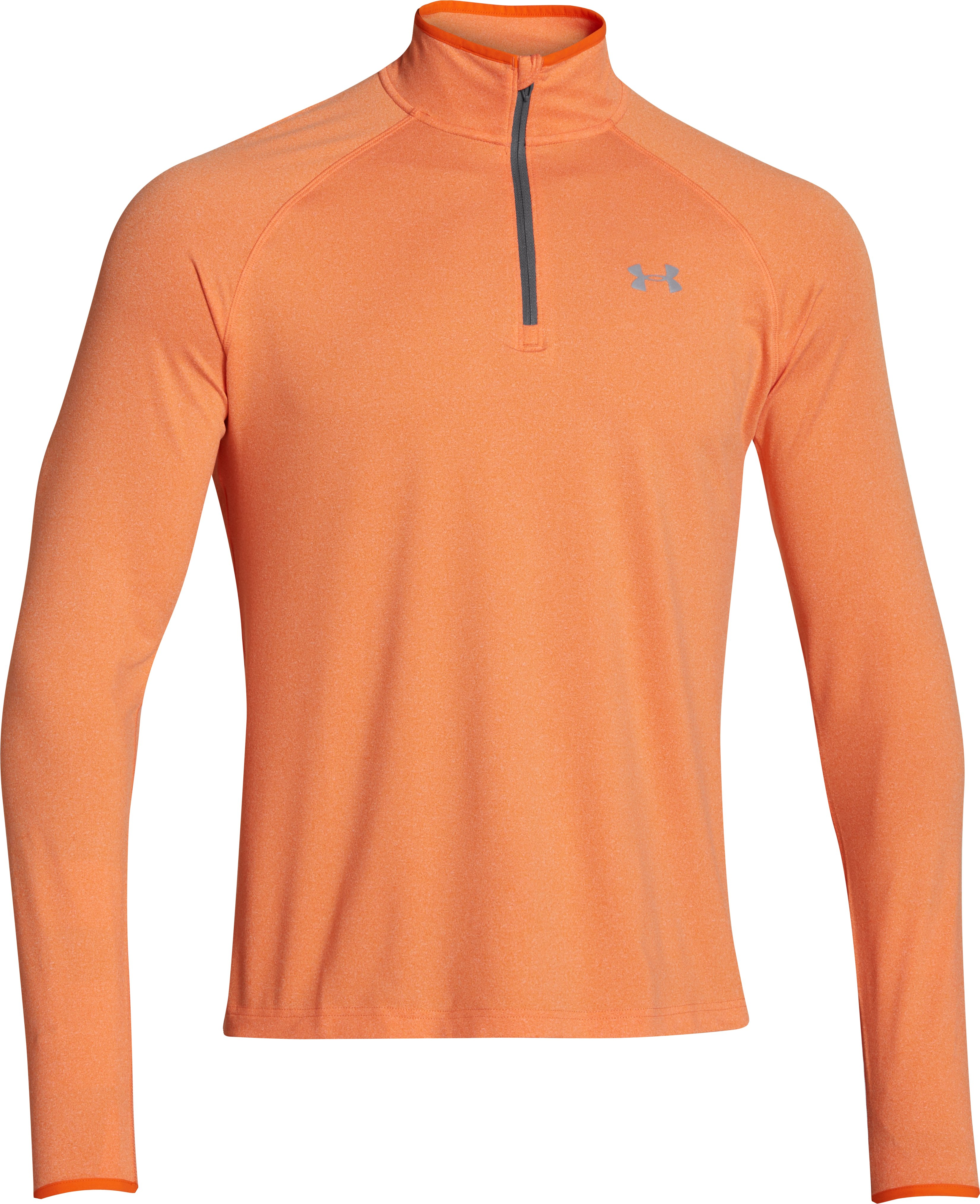 Men's UA HeatGear® Flyweight Run ¼ Zip, OUTRAGEOUS ORANGE