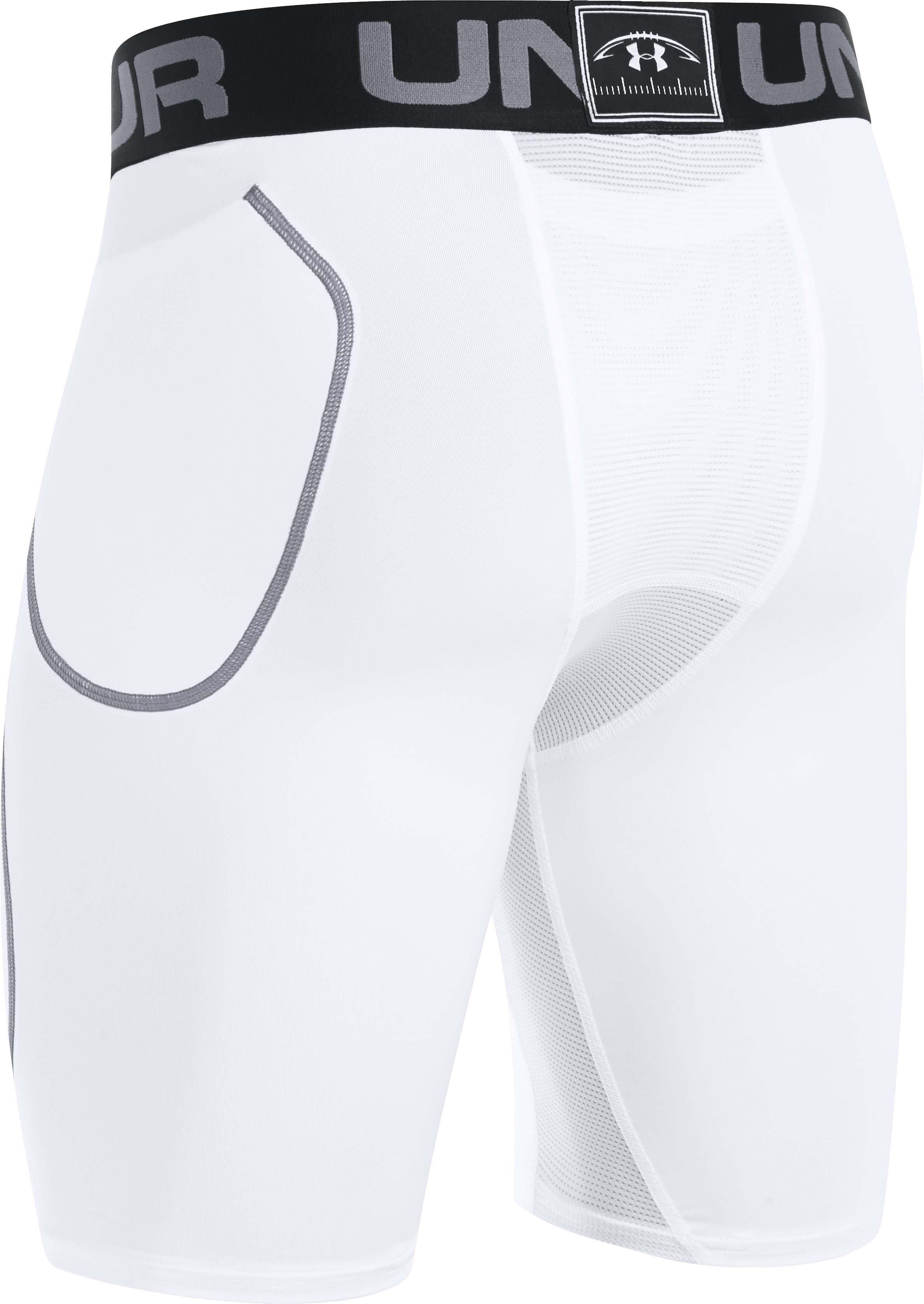 Men's UA 6-Pad Football Girdle, White,