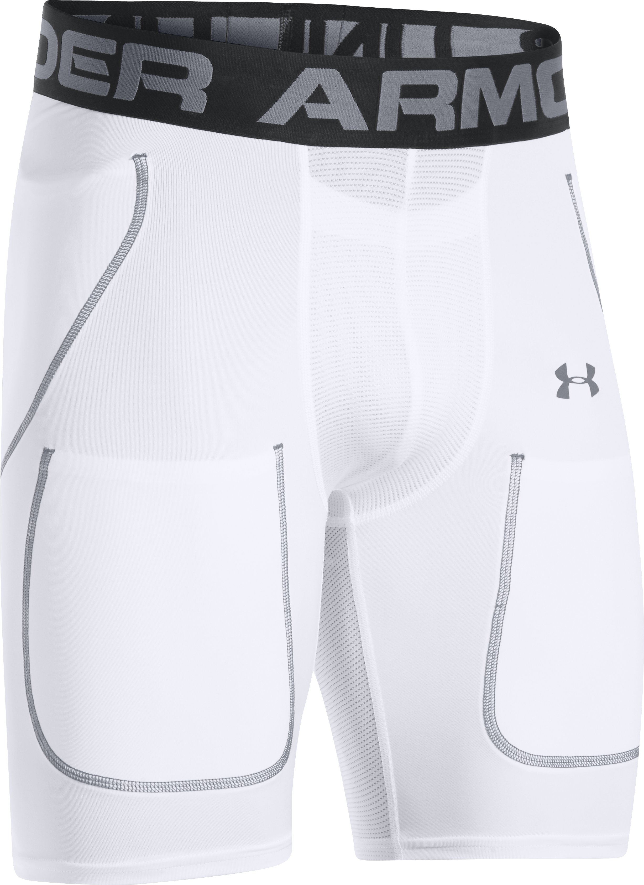 Men's UA 6-Pad Football Girdle, White