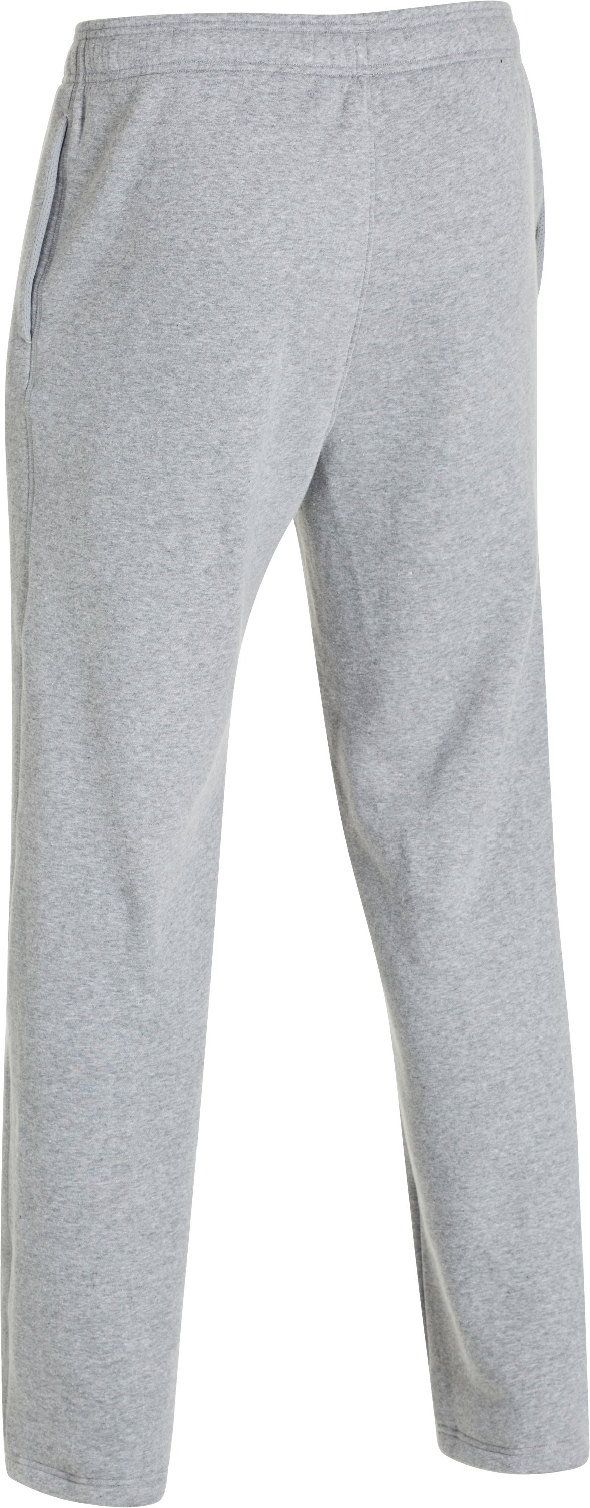 Men's UA Rival Fleece Team Pants, True Gray Heather, undefined
