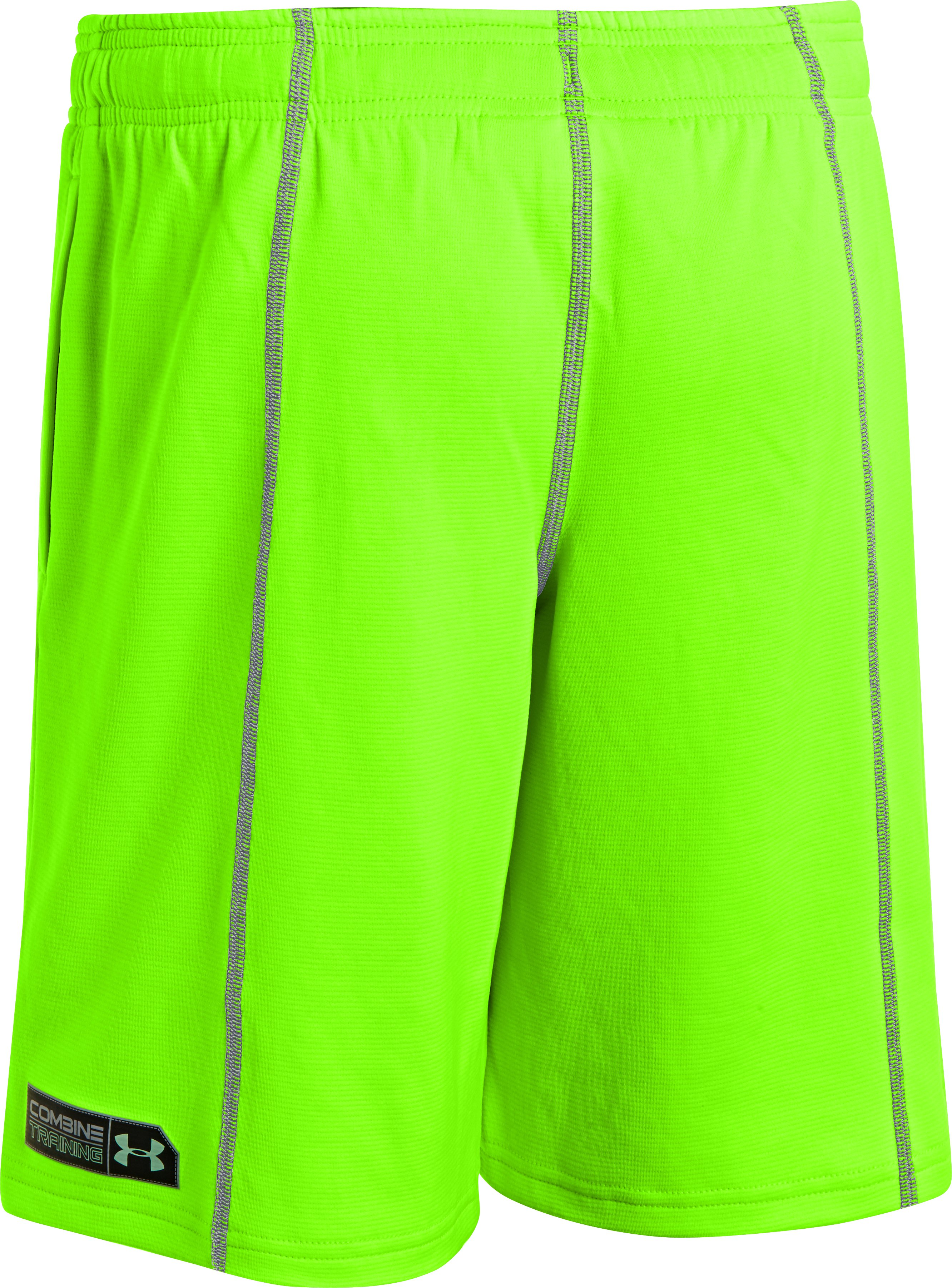 Boys' UA Combine® Training Shorts, HYPER GREEN, undefined