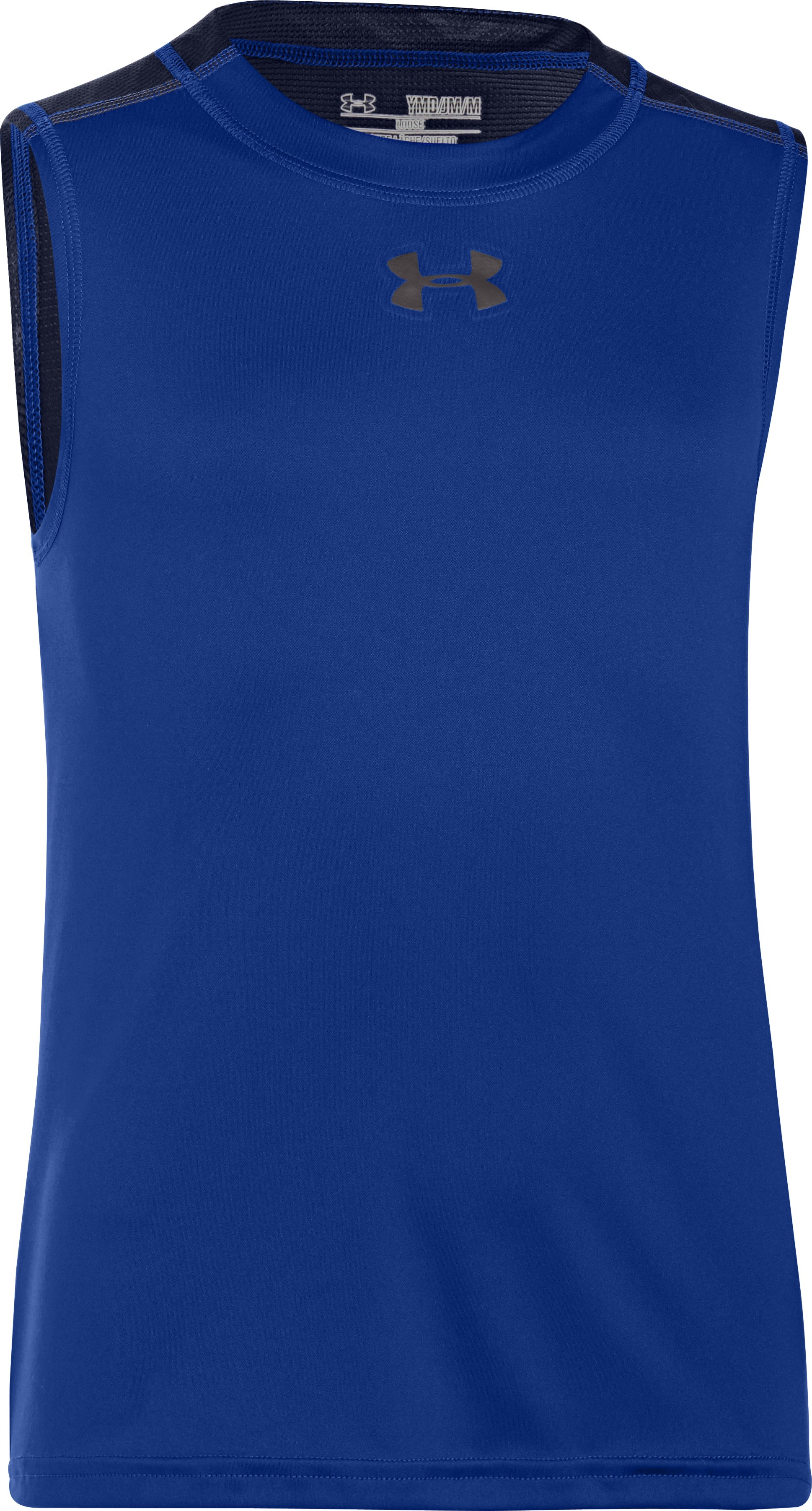 Boys' UA Next Level Basketball Tank, Royal, zoomed image