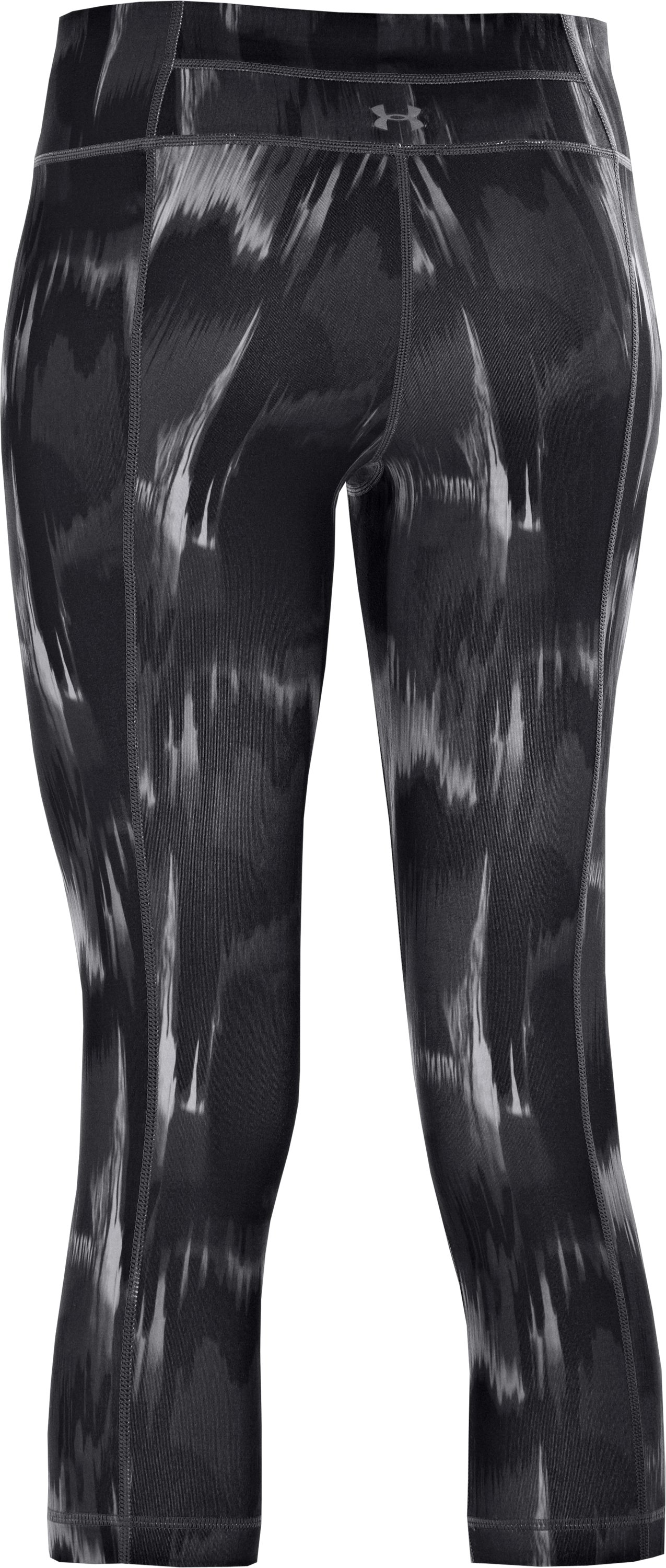 Women's UA Perfect Tight Printed Capri, Black