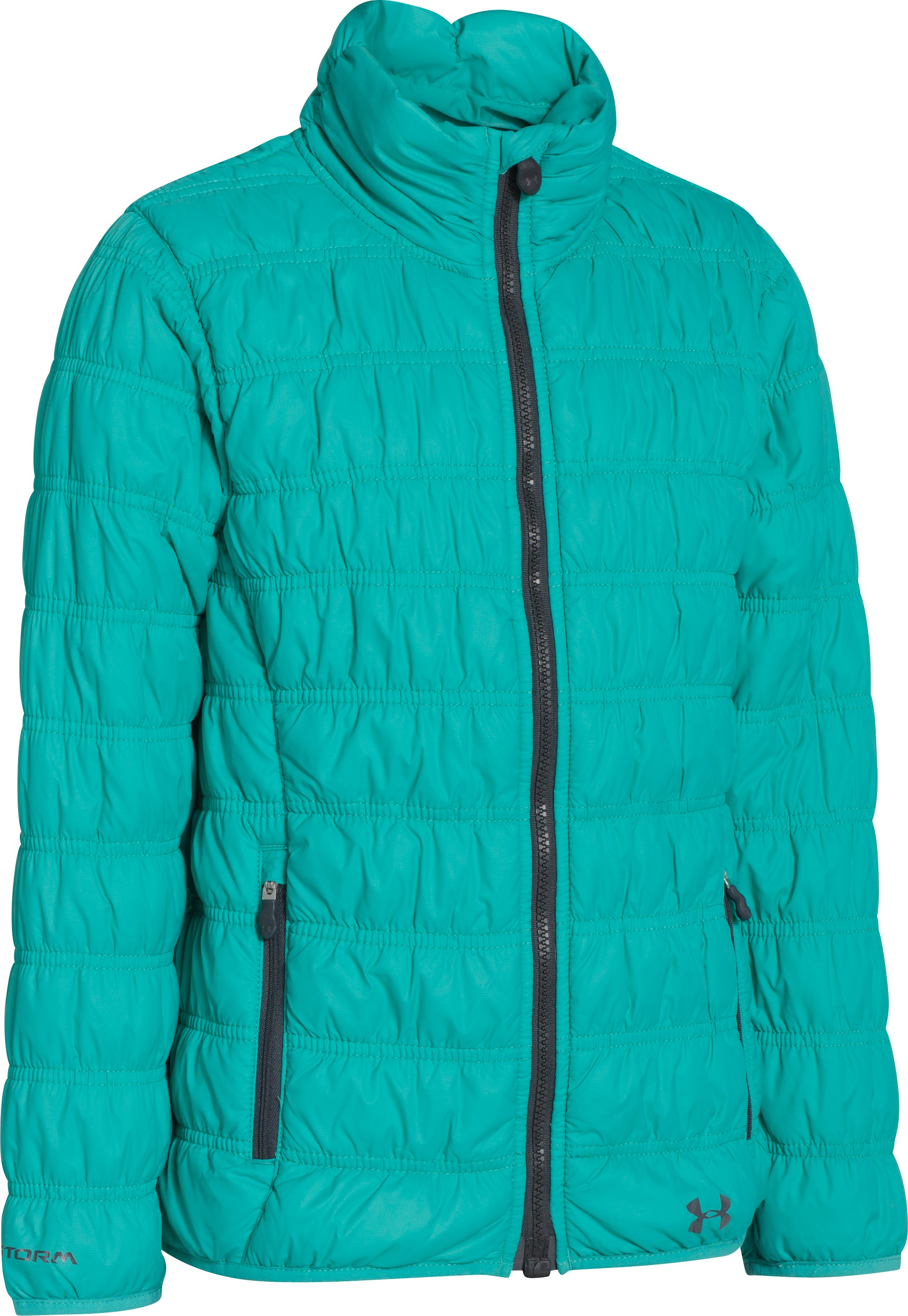 Girls' ColdGear® Infrared Evie Jacket, GAZEBO GREEN, undefined