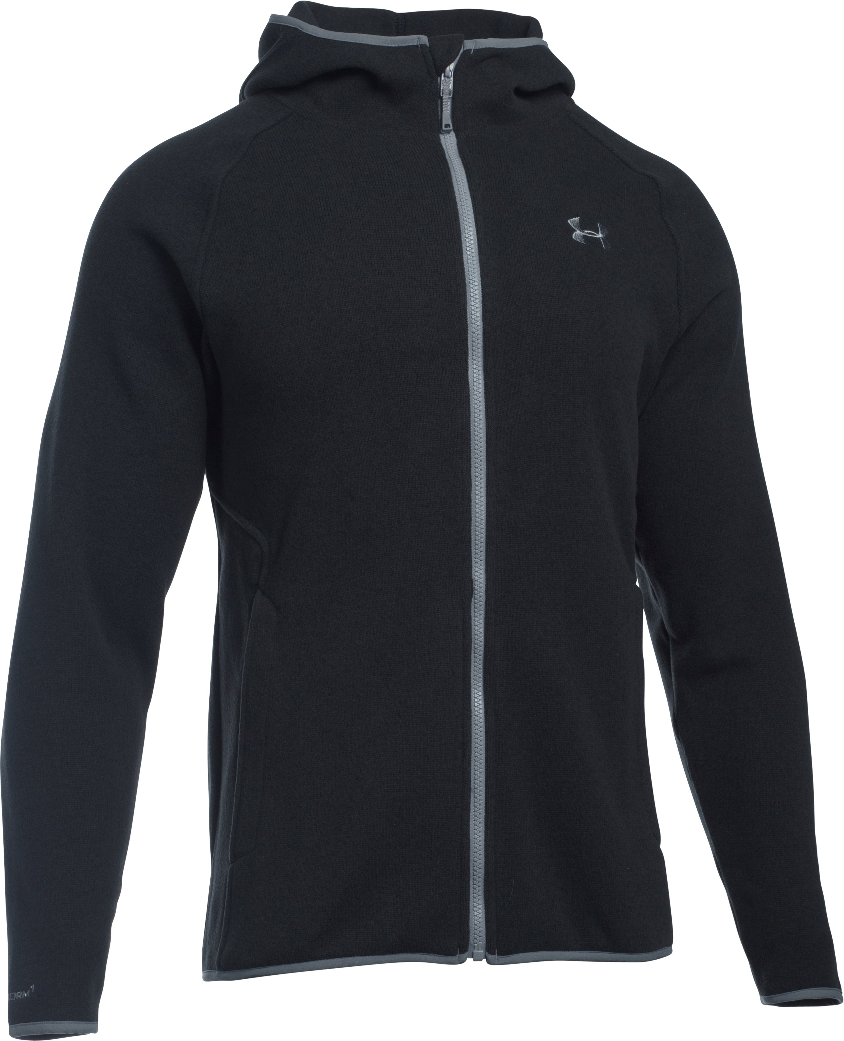 Men's UA Storm Forest Hoodie, Black , undefined