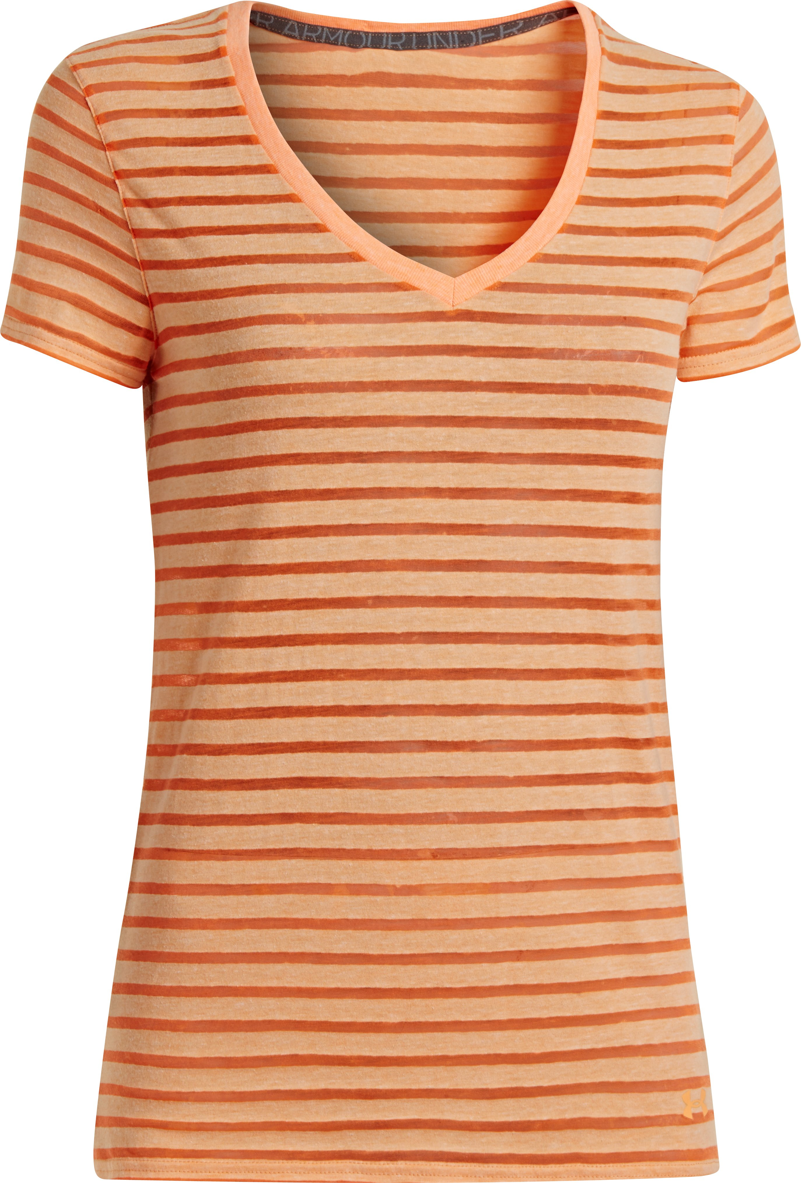 Women's Charged Cotton® Legacy Burnout V-Neck, Afterglow, undefined
